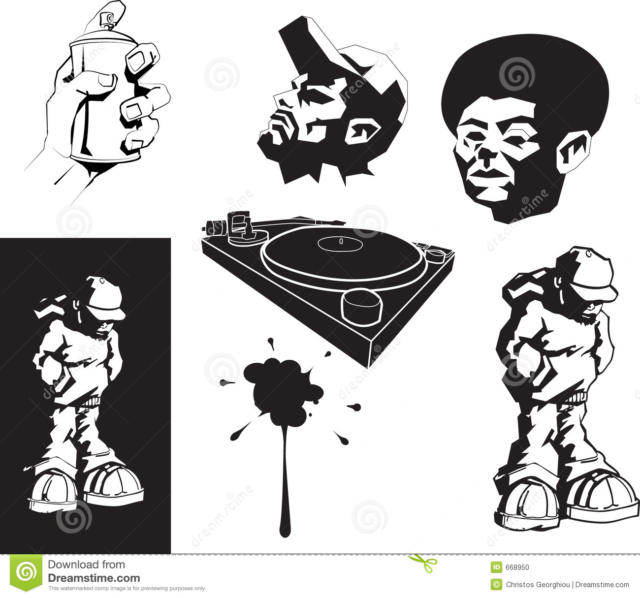 Urban imagery stock vector. Illustration of stencil, paint ...