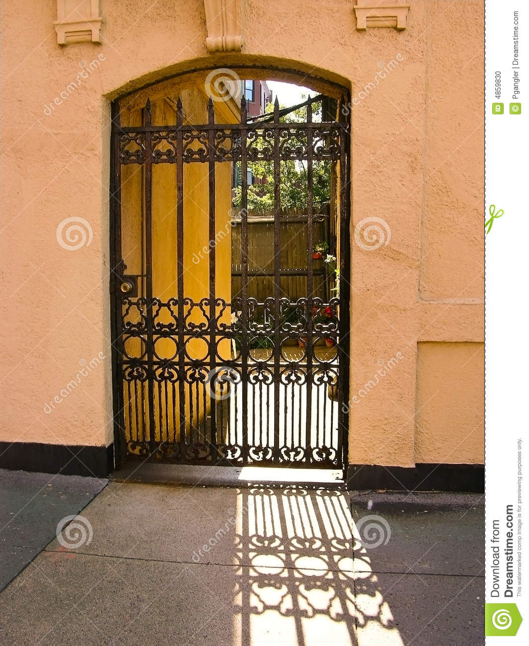 Foyer Hallway Urban Dictionary : Urban iron gate stock photo image