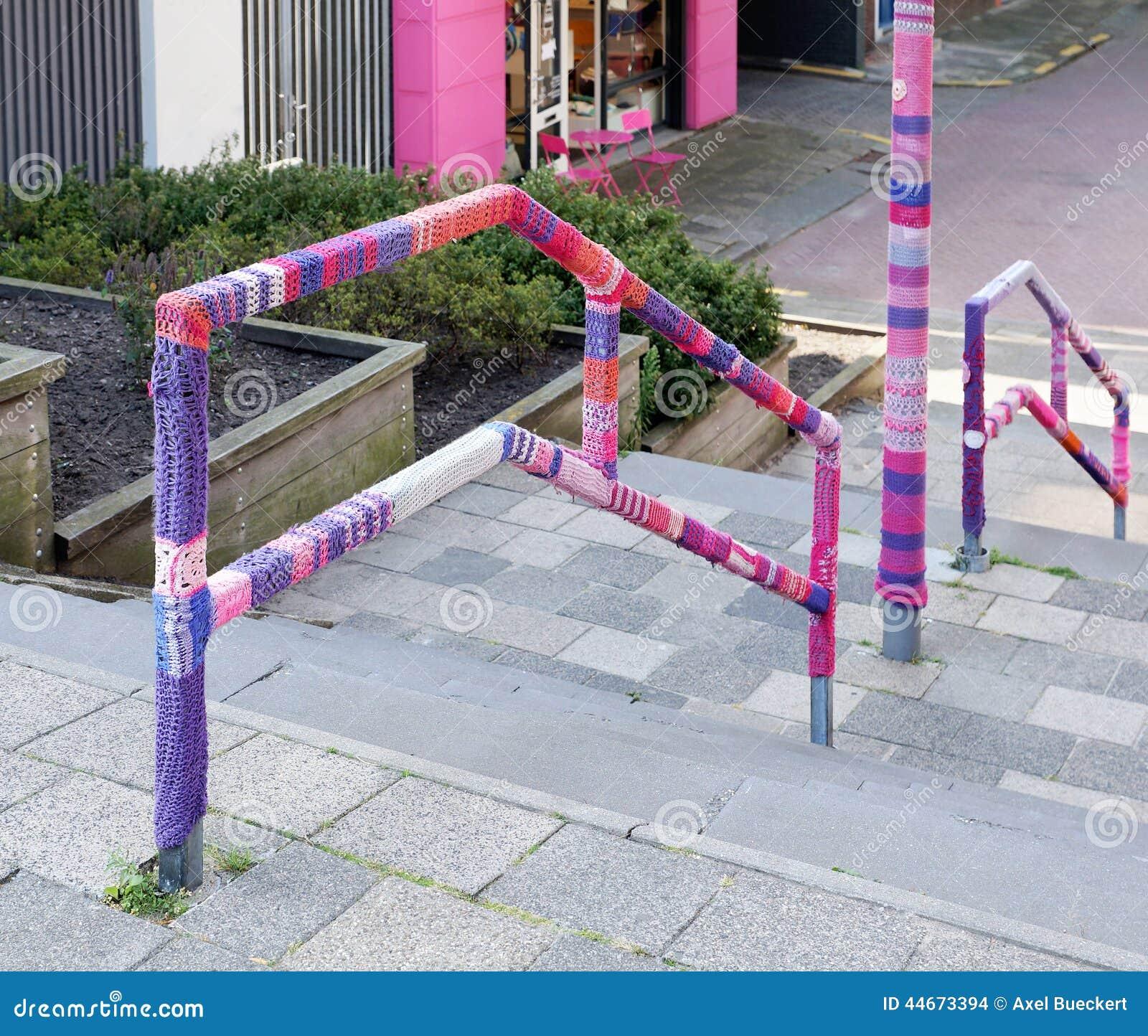 Urban Knitting Graffiti : Urban knitting street art stock photo image of knit