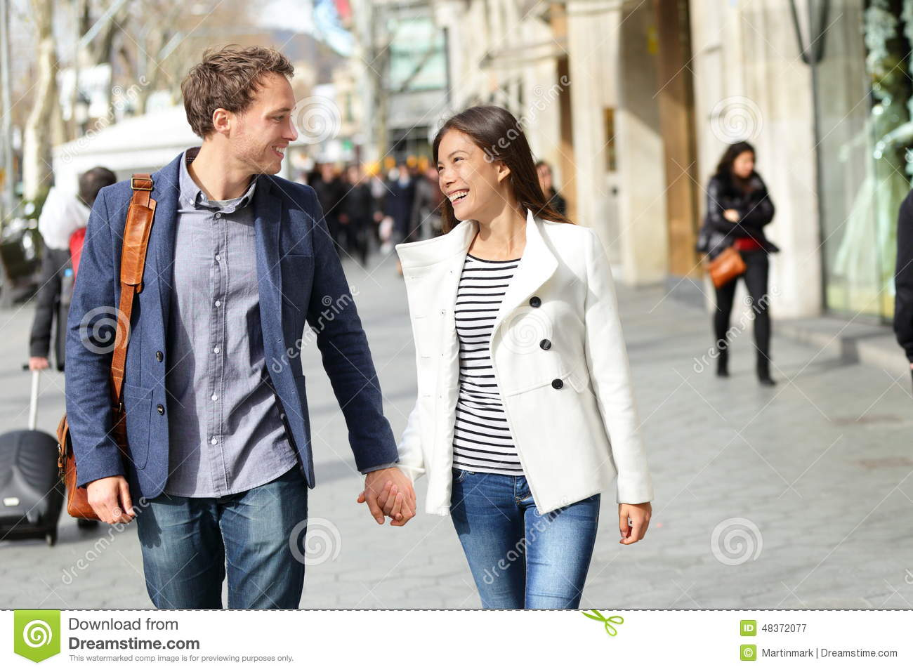 Urban modern professionals couple walking stock photo image 48372077 - Young couple modern homes ...