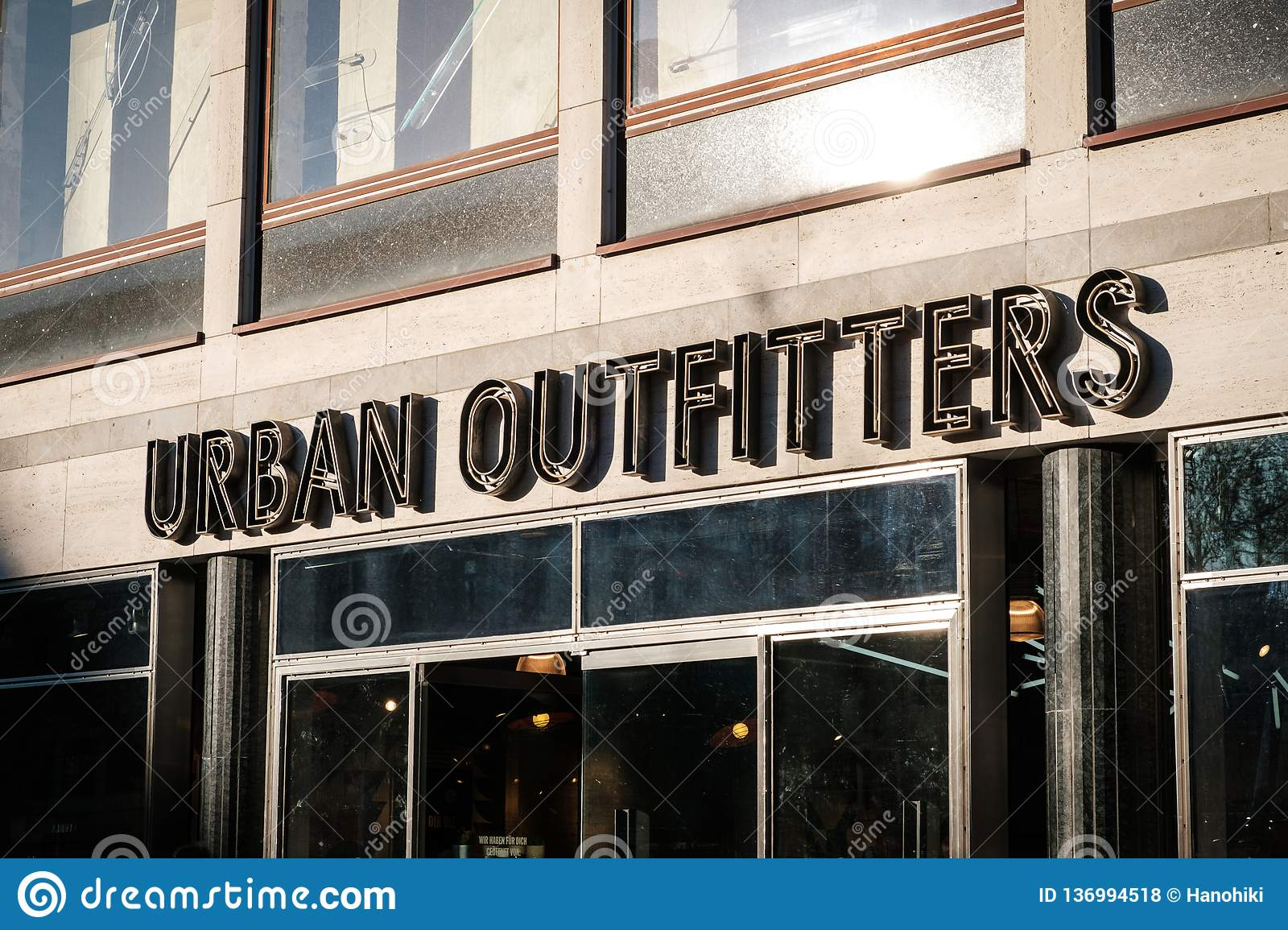 Urban Outfitters clothing store shop front in Berlin