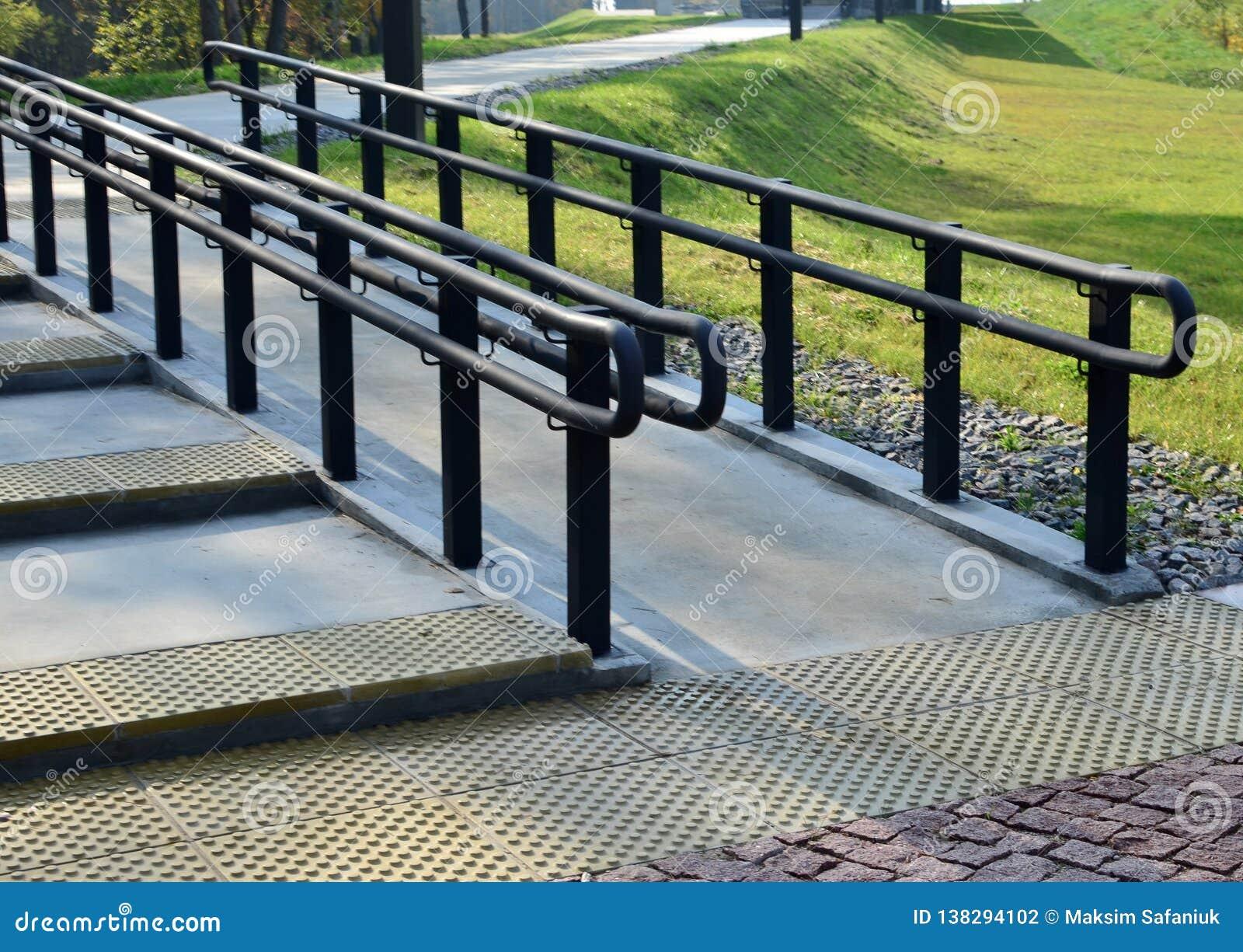 Urban railings, handrails for pedestrians