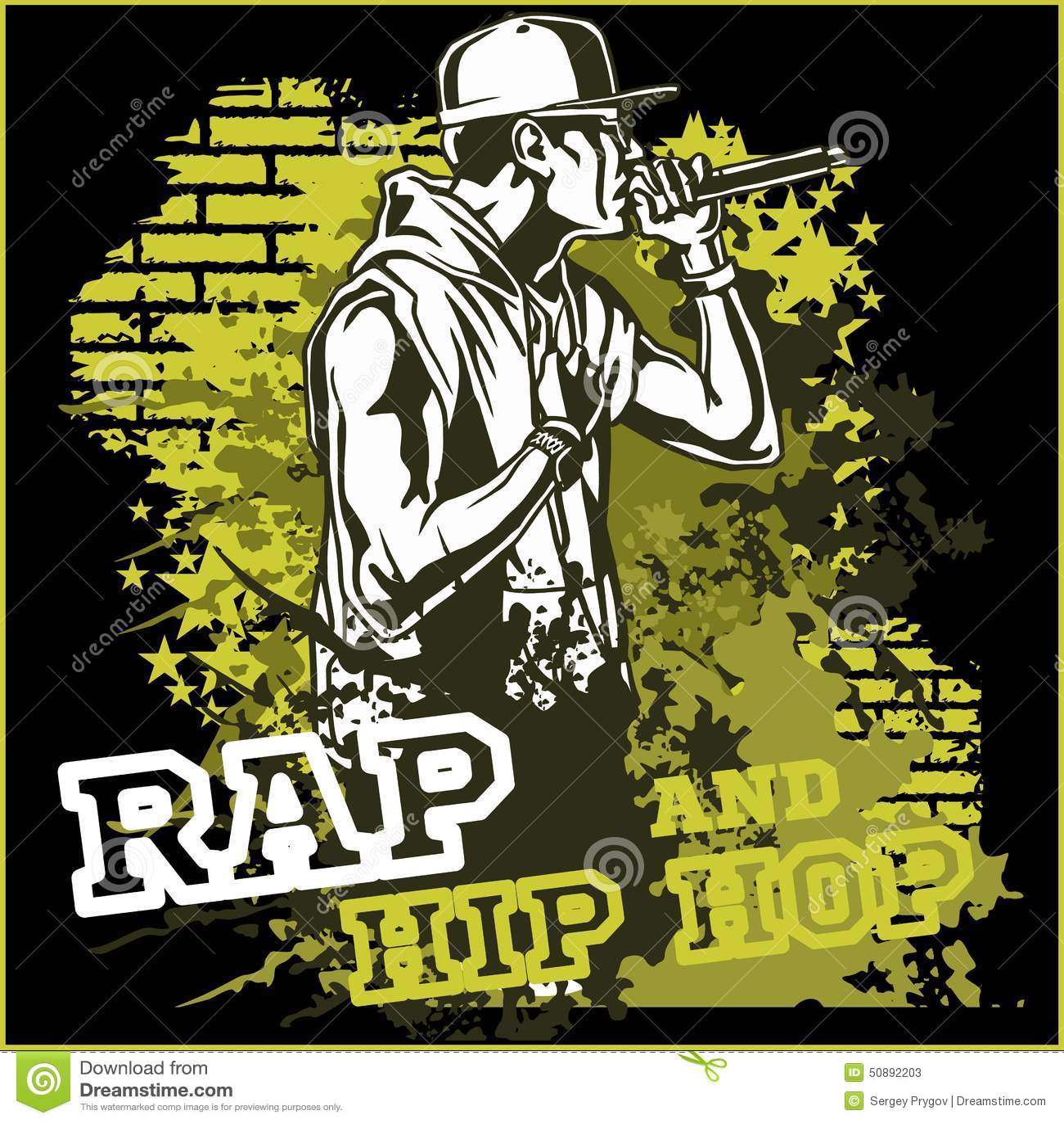 urban rapper hip hop vector illustration stock vector