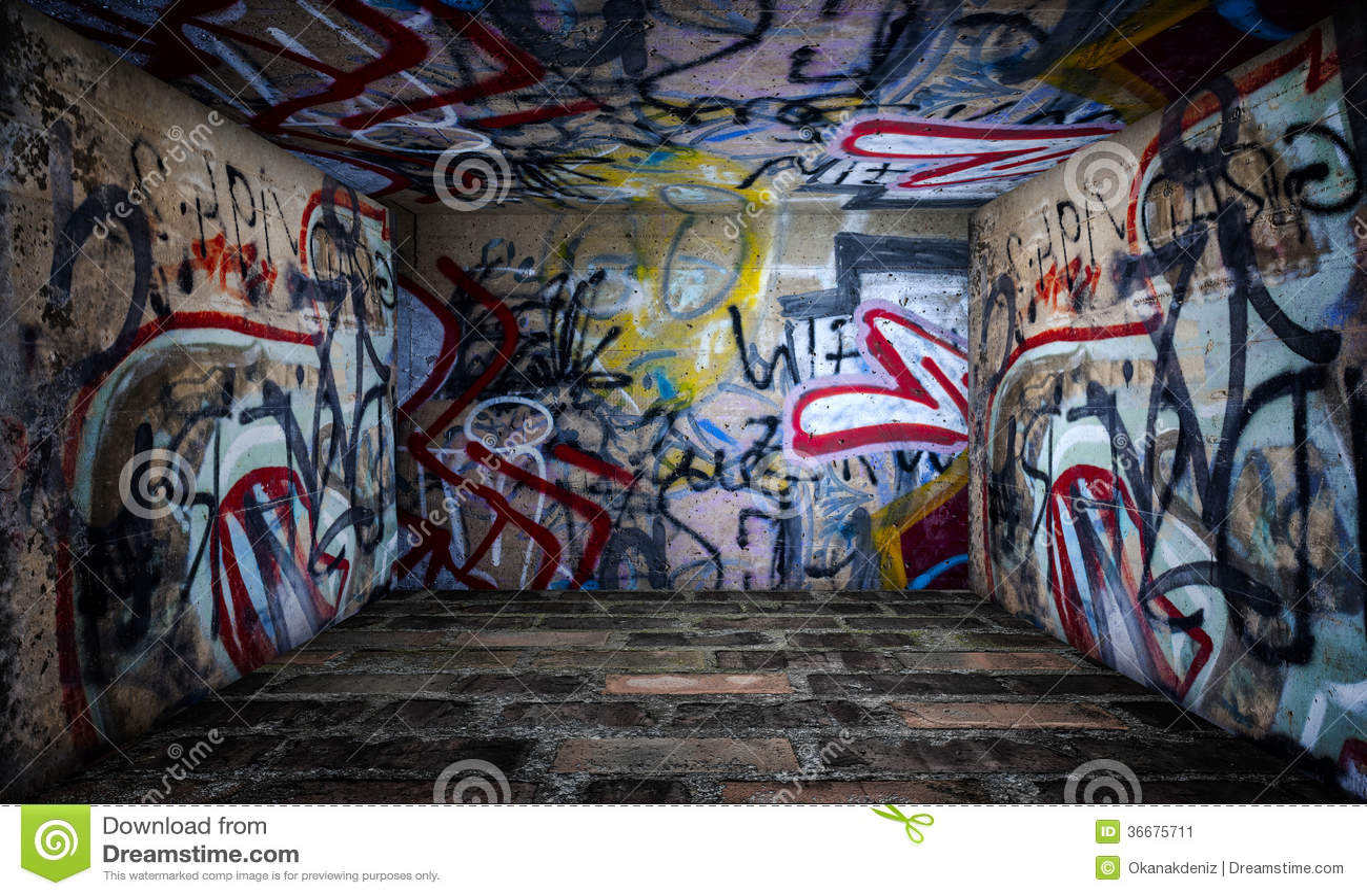 Urban Stage Graffiti Room Stock Image
