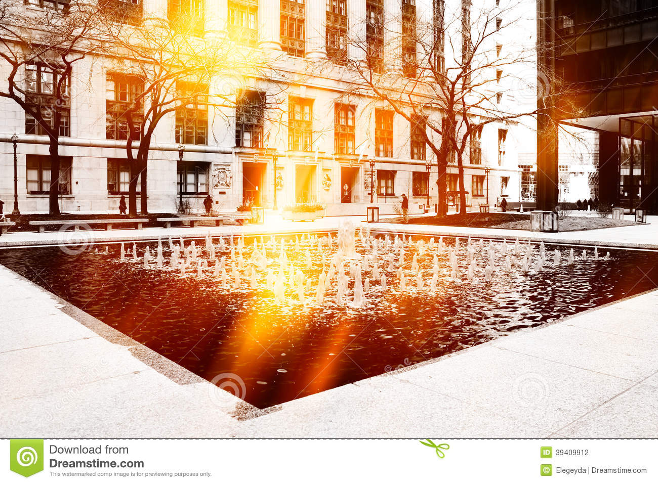 Urban Street Scene Stock Photo - Image: 39409912