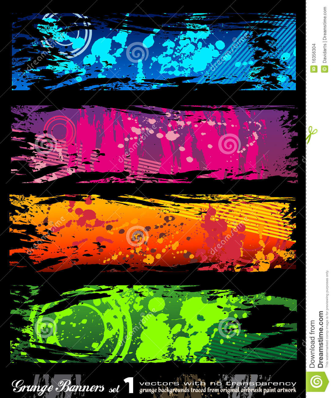 urban style grunge banners with rainbow colours stock vector illustration of artistic rock. Black Bedroom Furniture Sets. Home Design Ideas