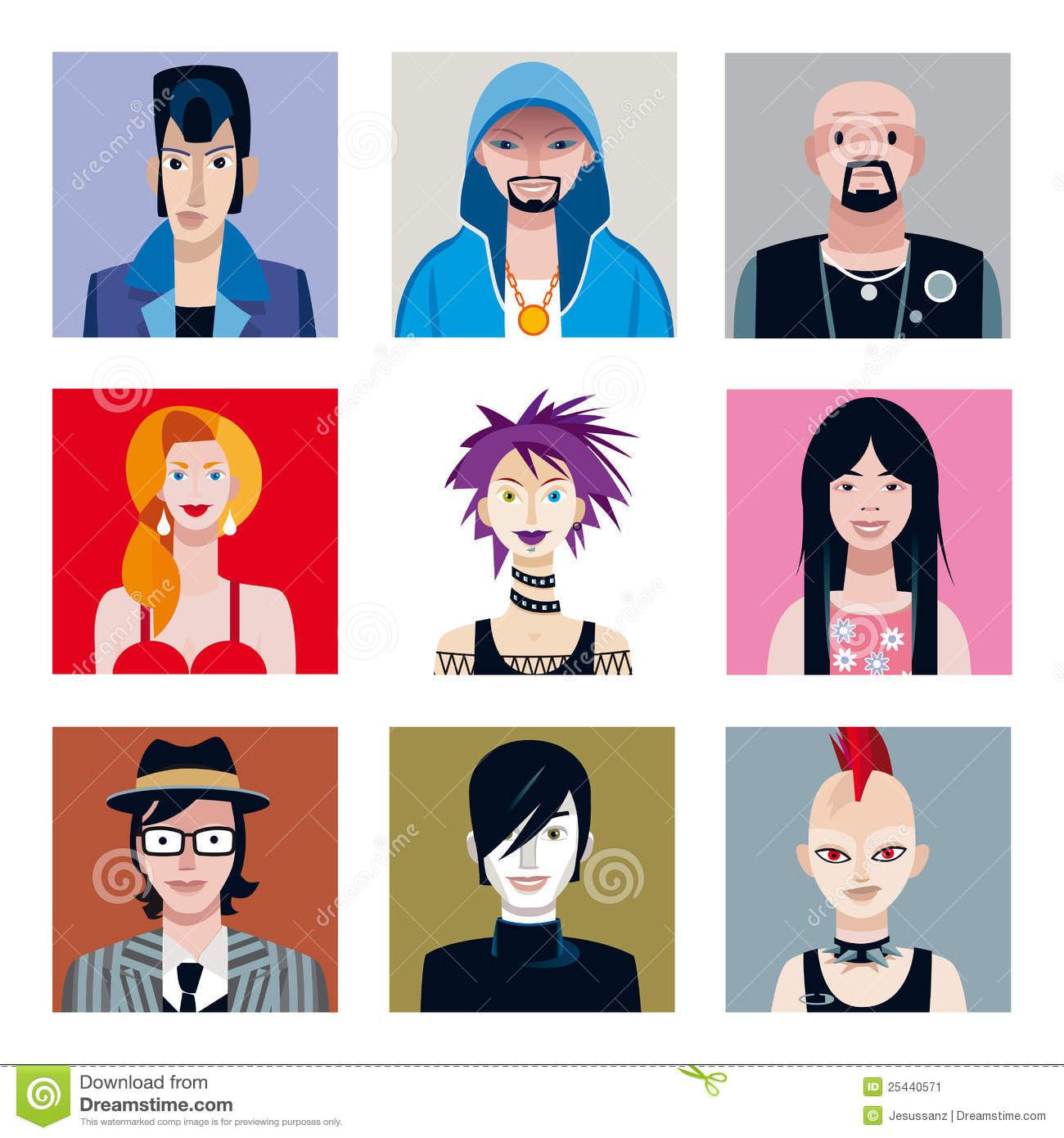 Avatar 4 2024: Urban Tribes Avatars Set Stock Vector. Image Of Teenager
