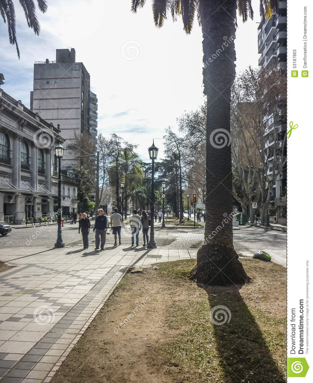 Urban View: Urban View Of Rosario City In Argentina Editorial Stock