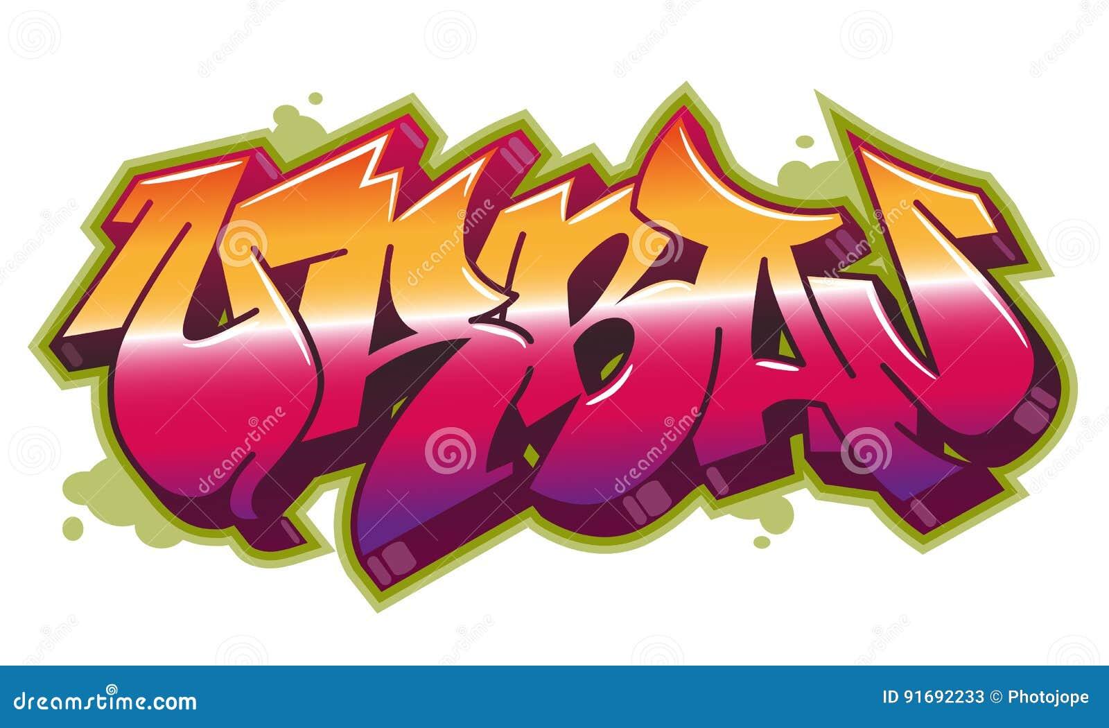 Urban word in graffiti style