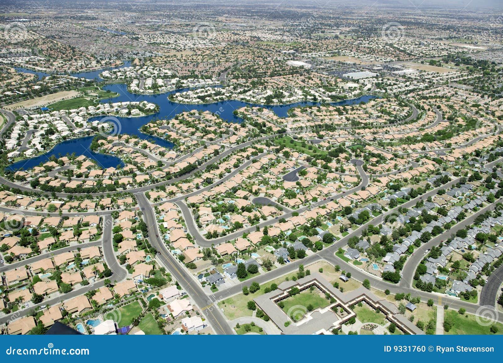 Urbanizaci n foto de archivo imagen de casas helic ptero - Urbanizacion la finca madrid ...