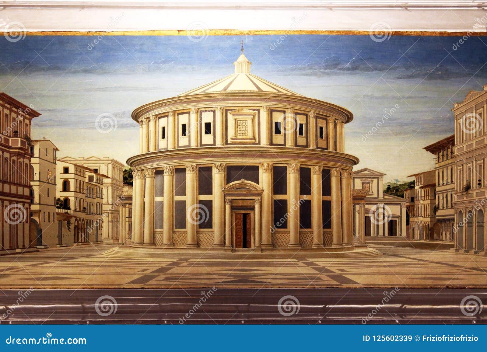 Urbino Italien, den ideala staden, Piero della Francesca, nationellt galleri