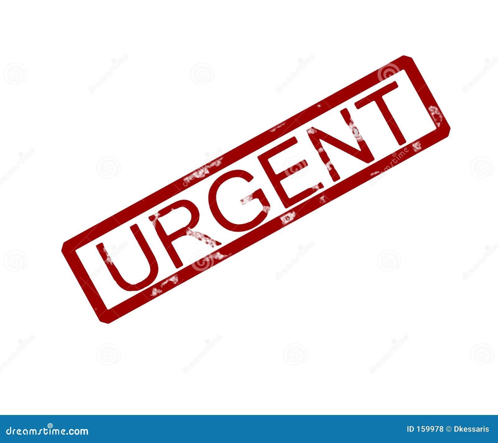 Urgent Rubber Ink Stamp Stock Illustration Image Of