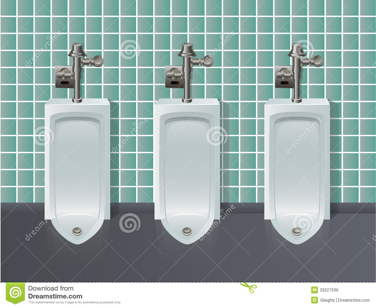 Urinal Illustration Stock Vector Illustration Of