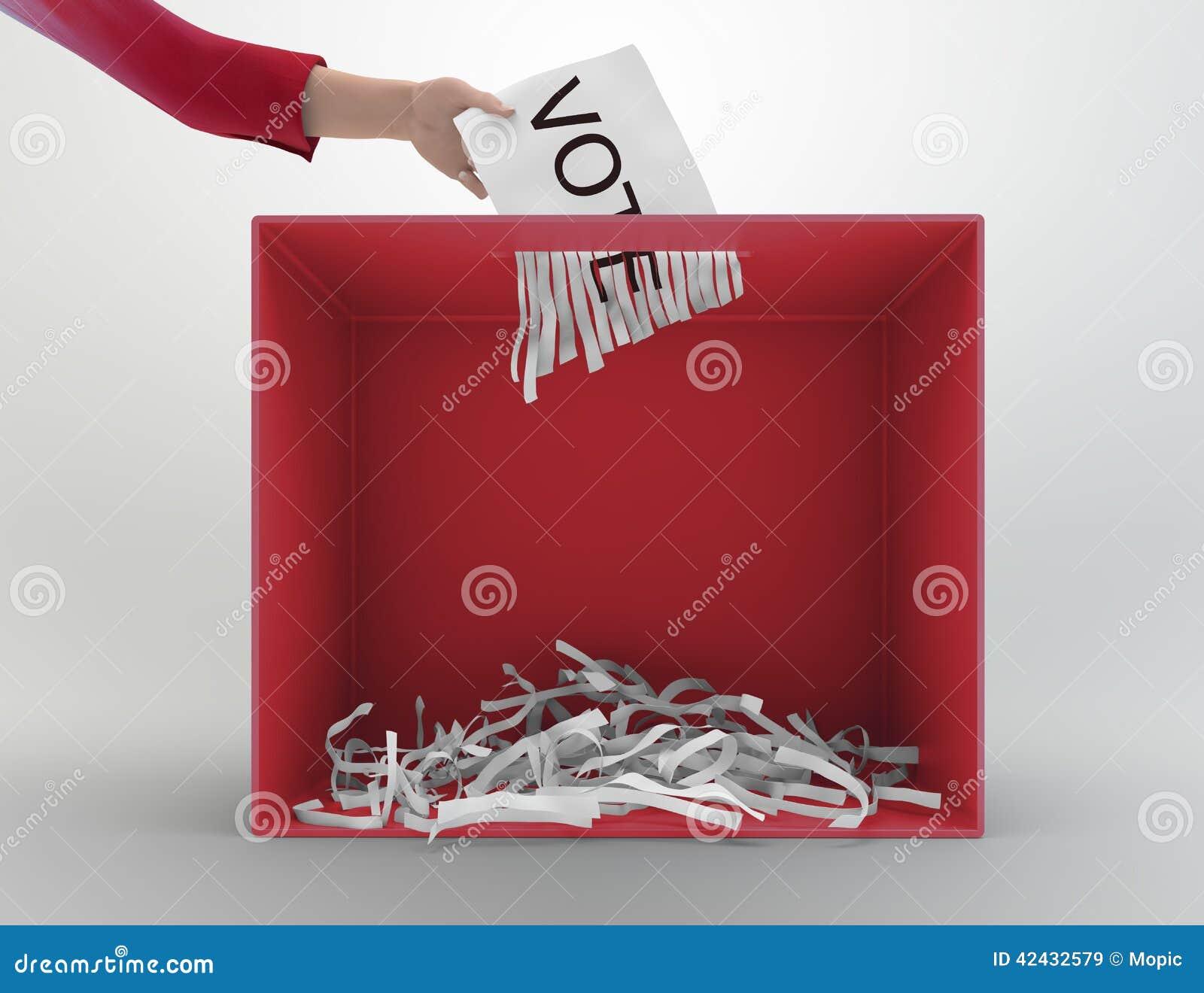 Urna de la trituradora de papel