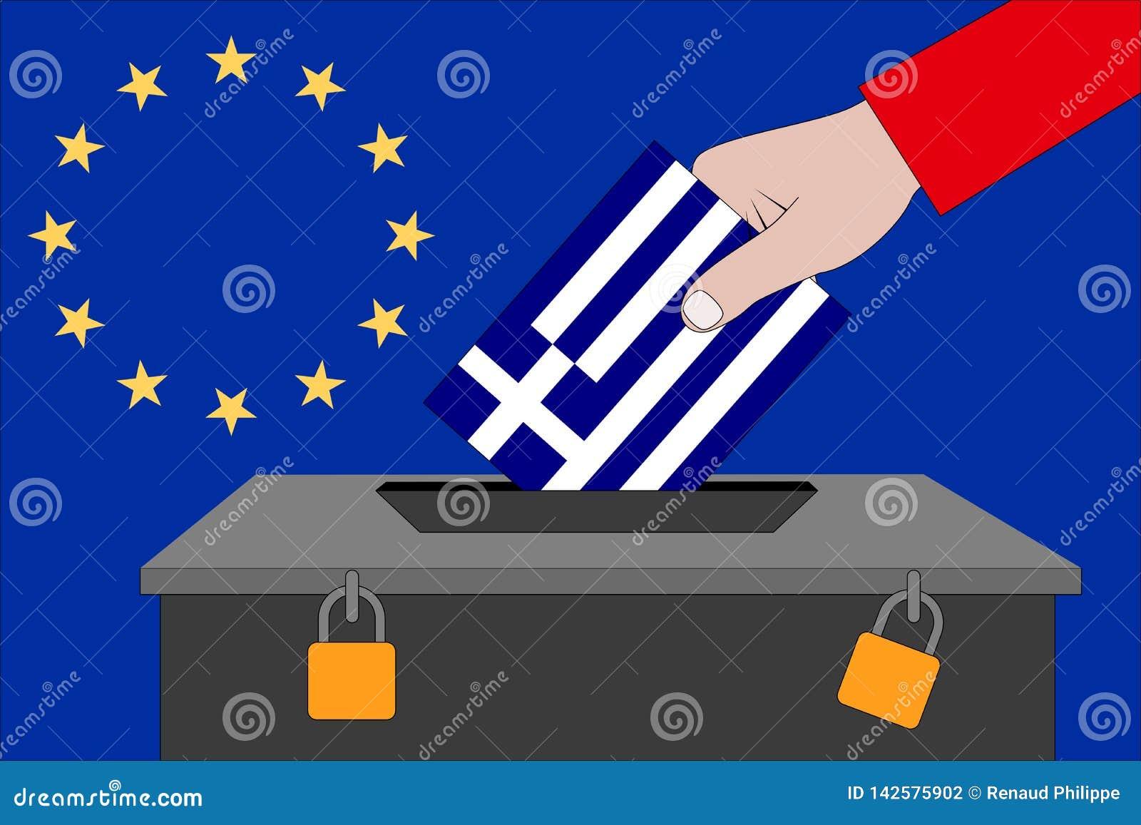 Urne de la Grèce pour les élections européennes