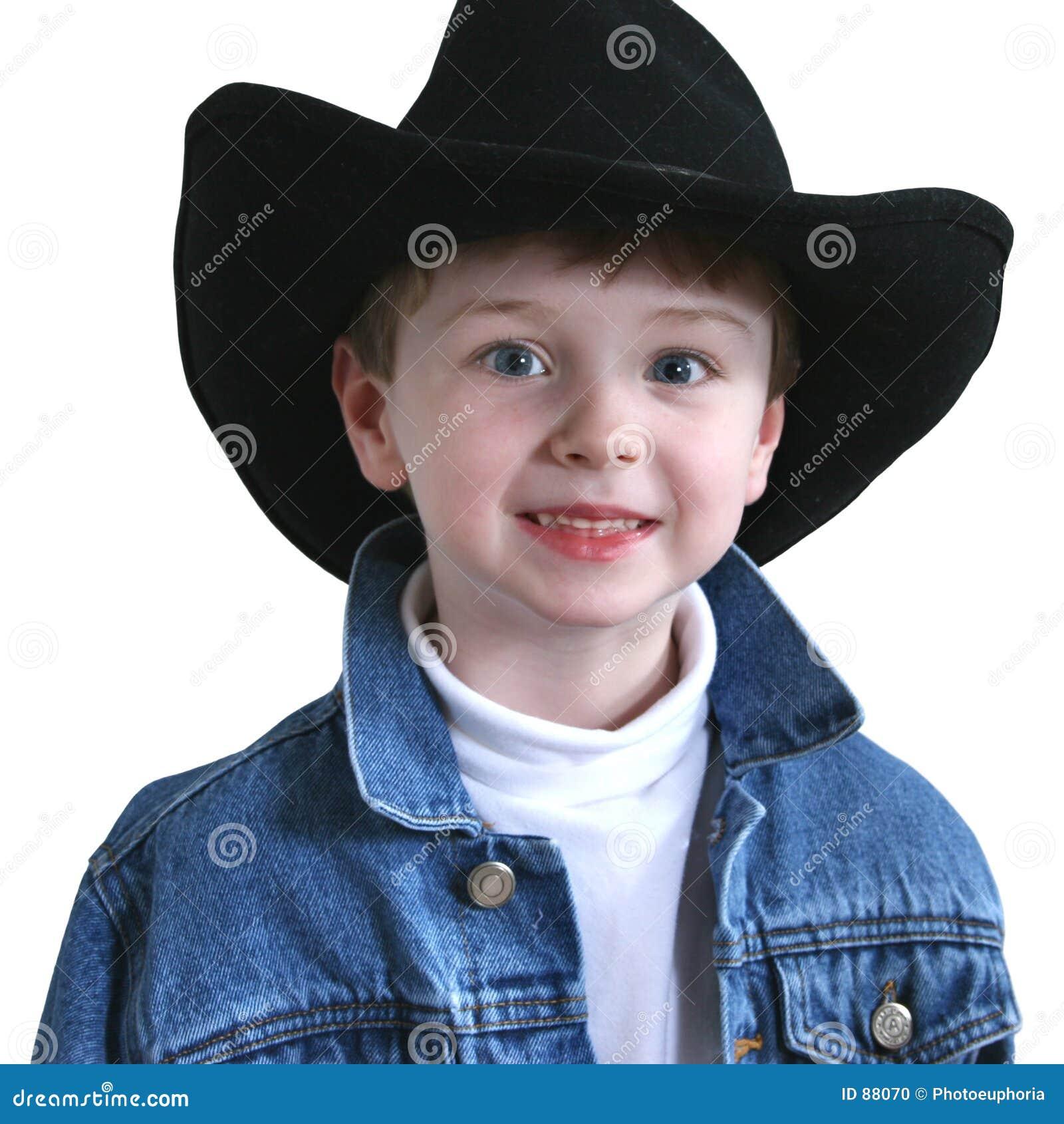 Urocze cztery lat stary kapelusz kowboja