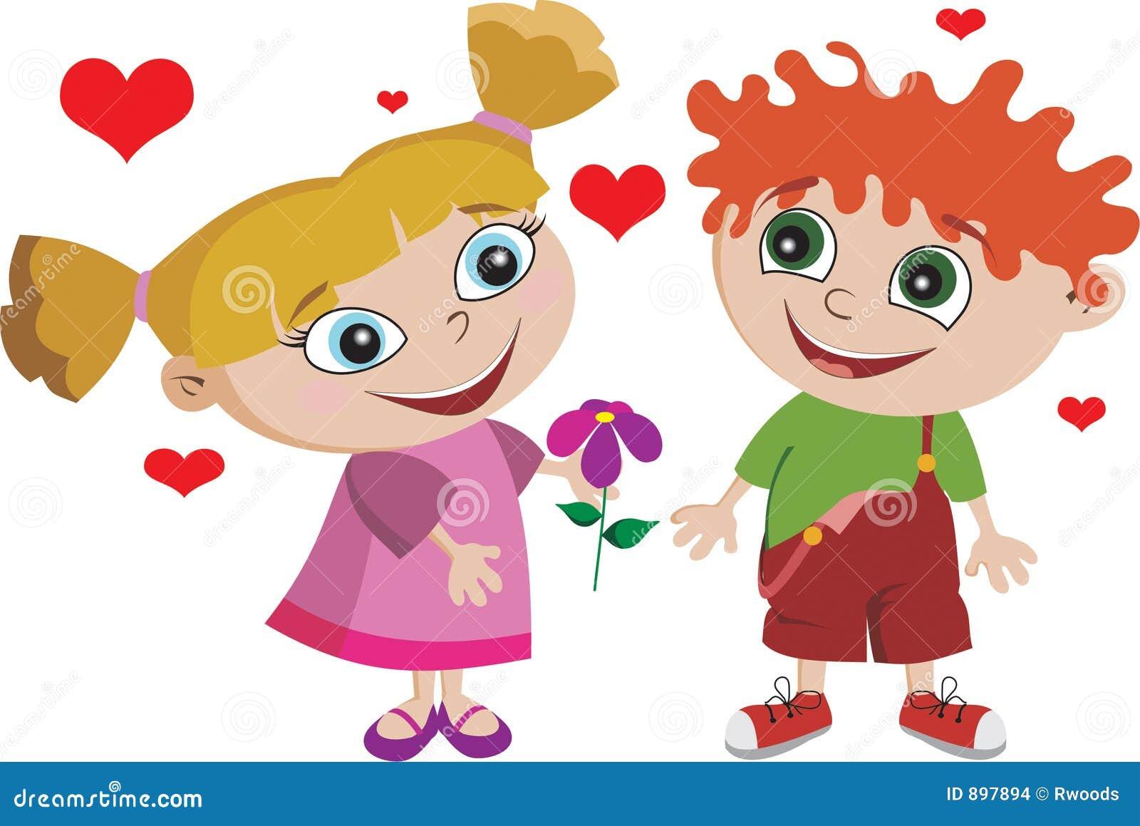 Uroczy chłopiec dziewczyny dzieciaka dzieci miłości