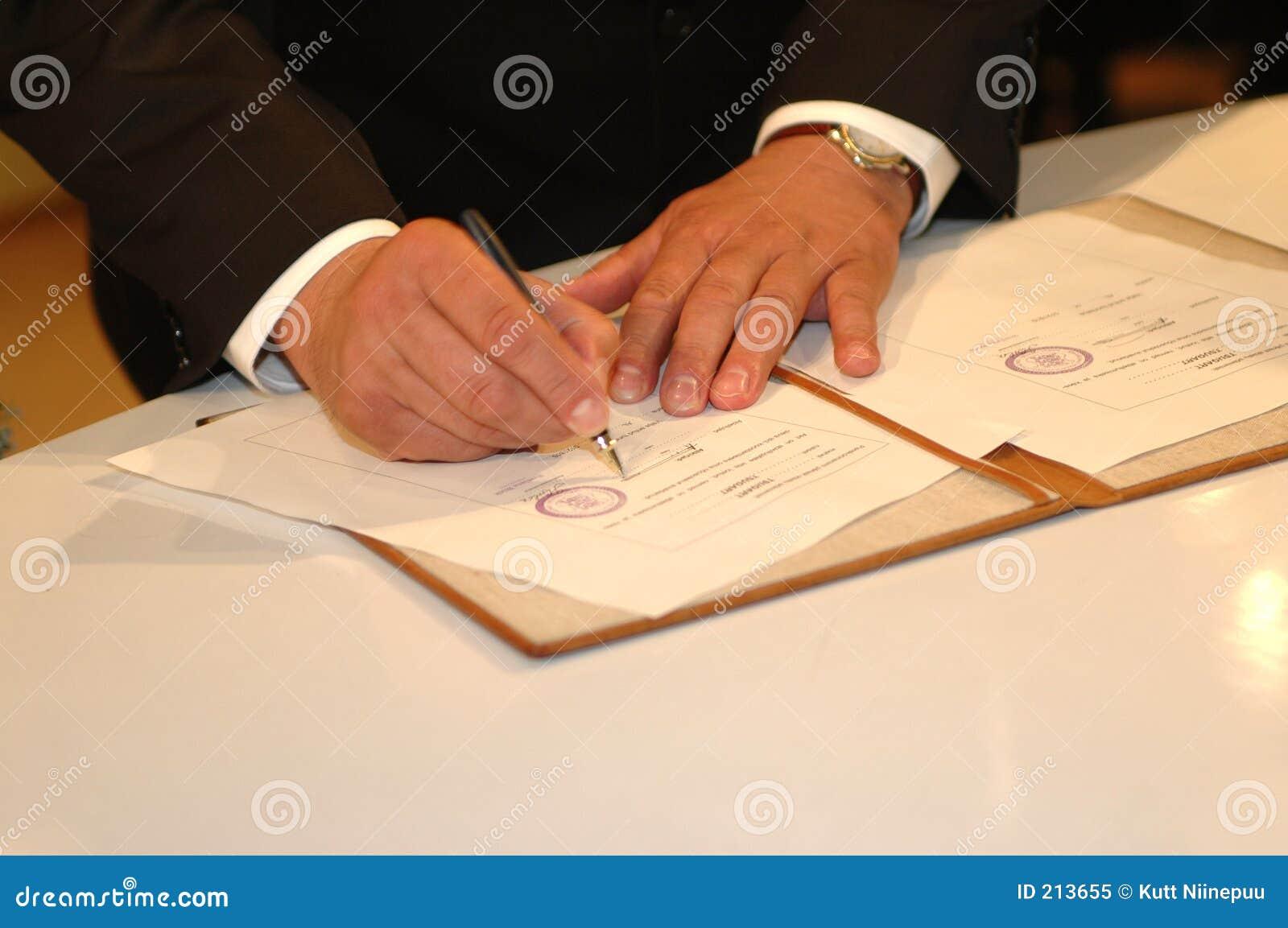 Uroczystość podpisania go ślub