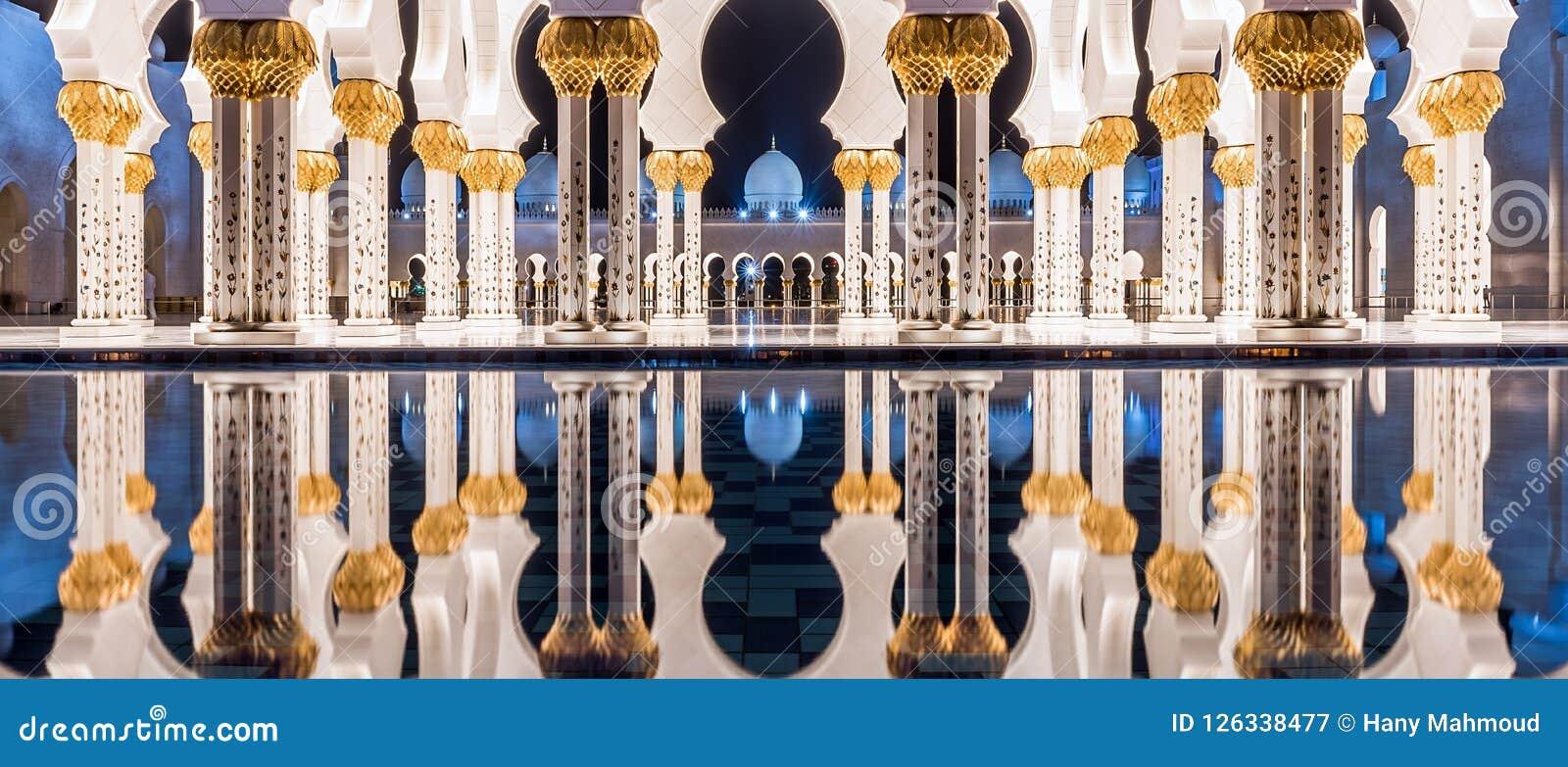 Uroczysty meczet w Abu Dhabi, UAE