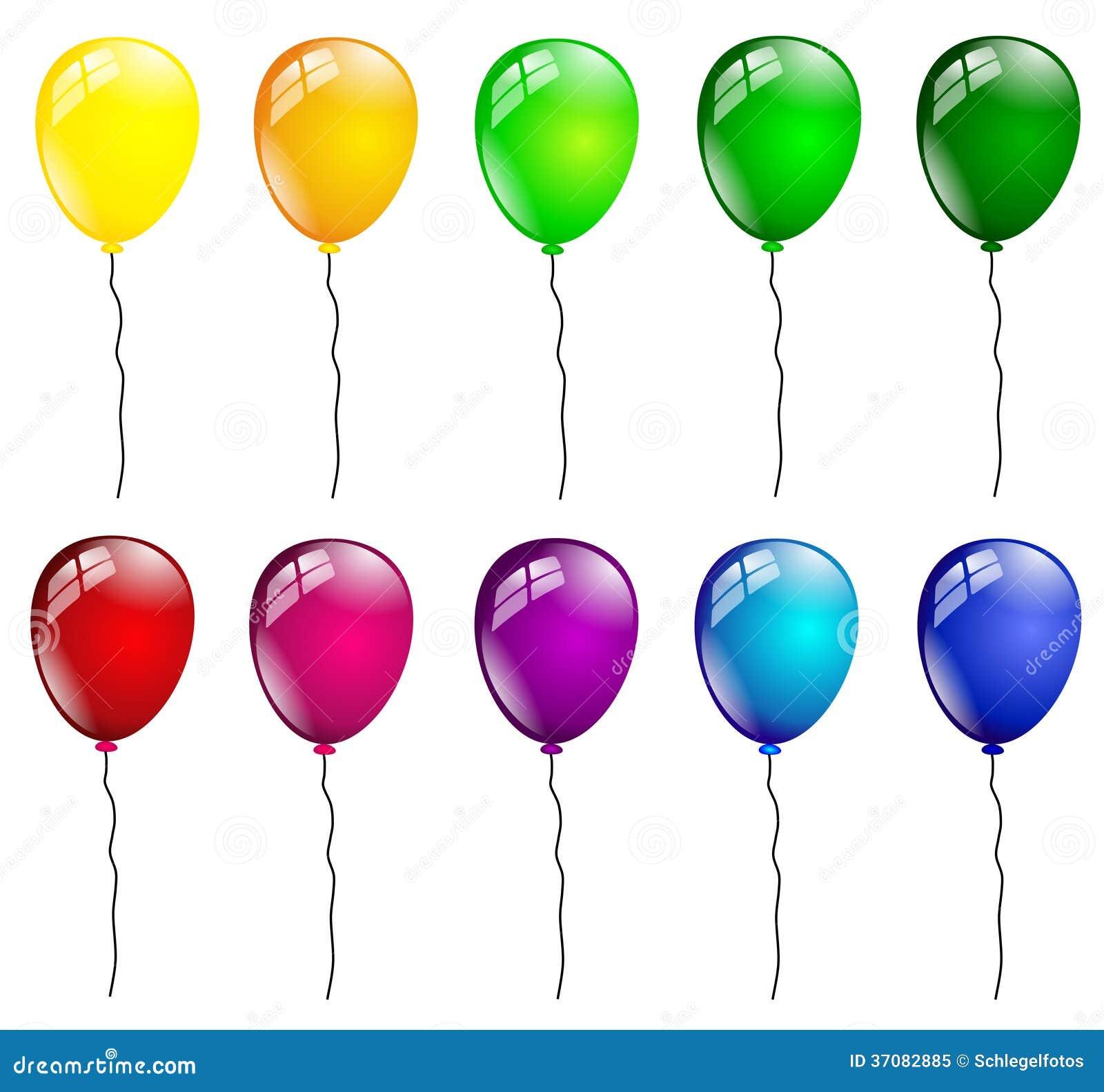 Download Urodzin Balony Odizolowywający Ilustracji - Ilustracja złożonej z ilustracje, karnawał: 37082885