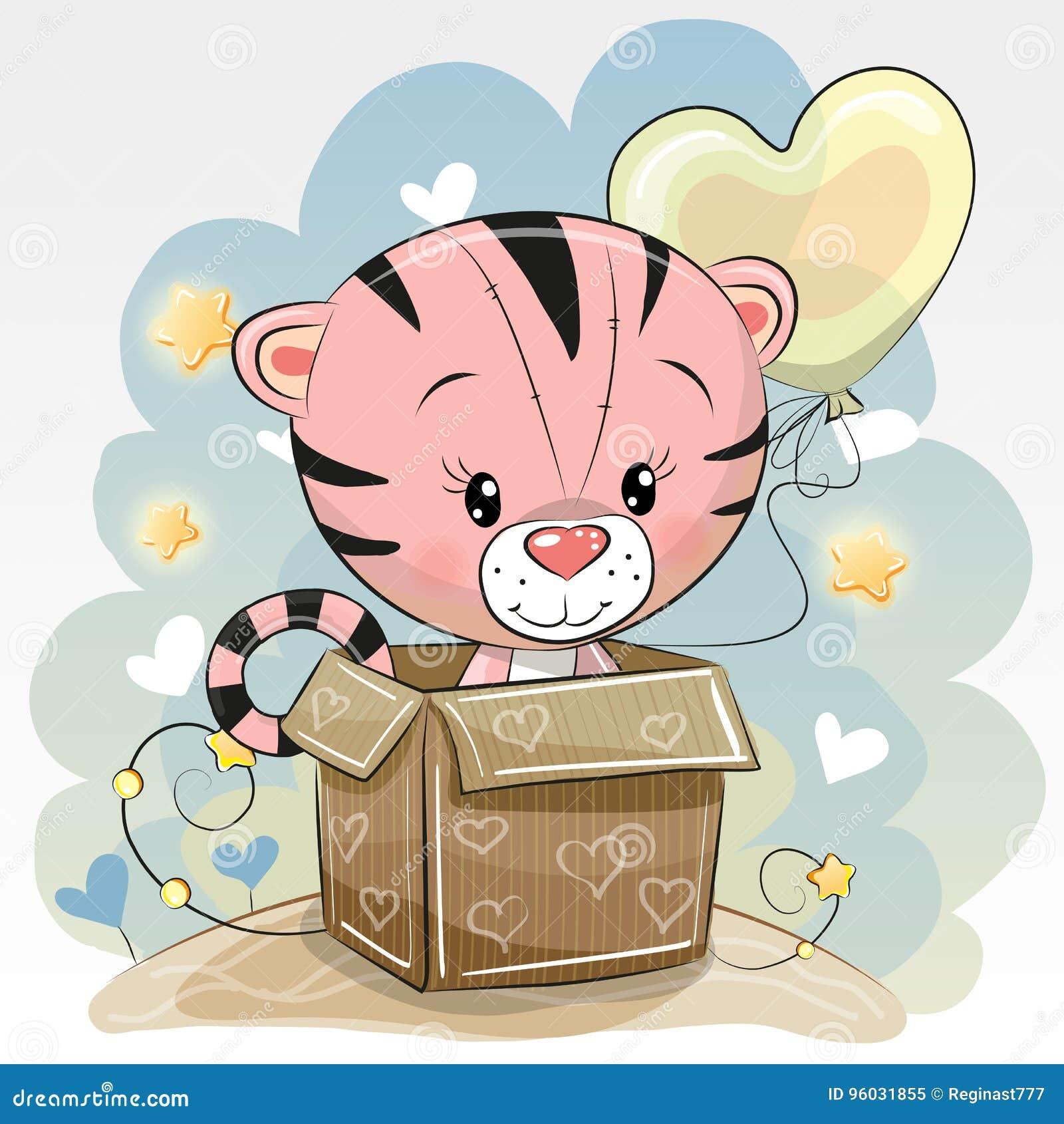 Urodzinowa karta z Ślicznym tygrysem