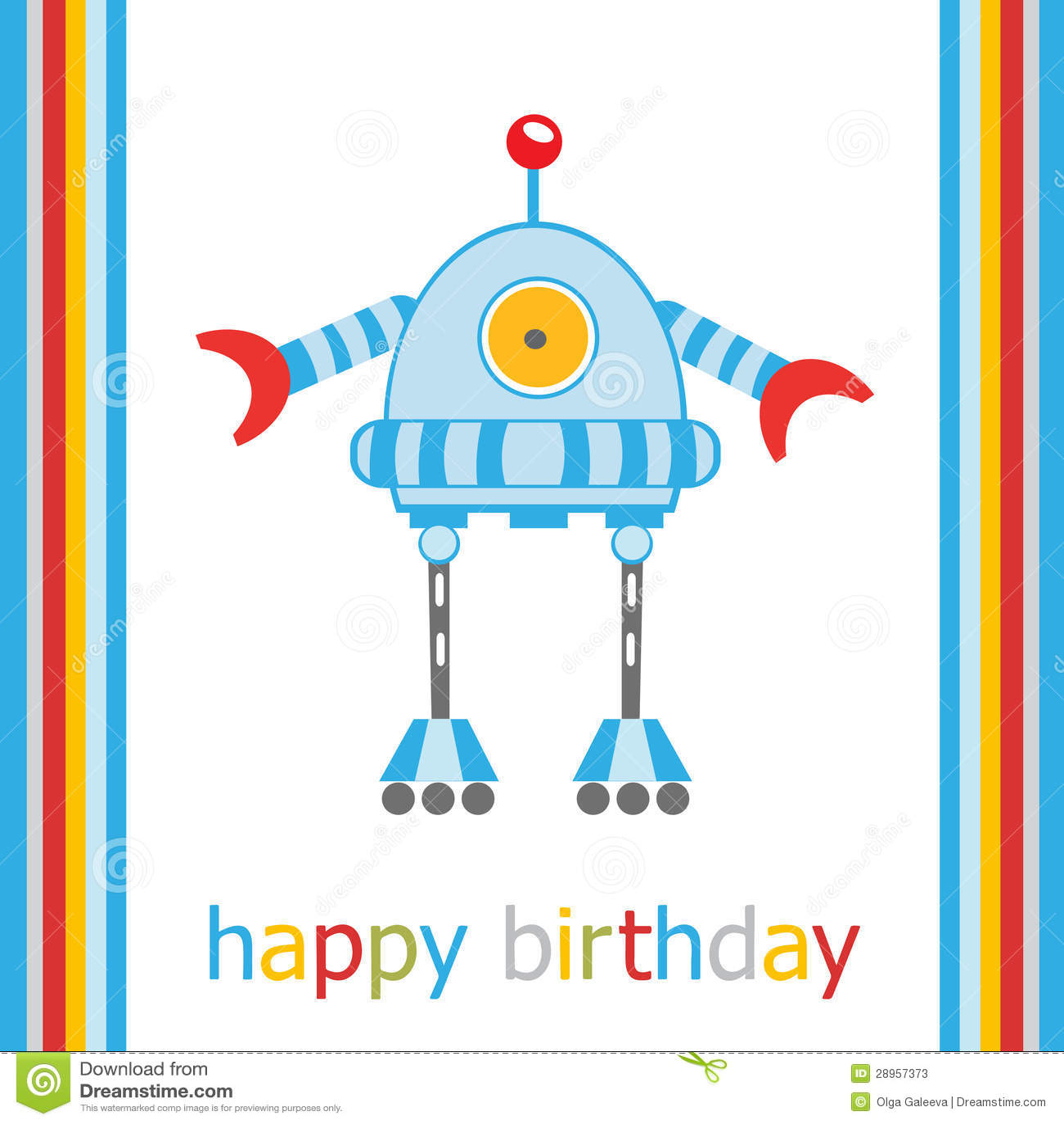 Urodzinowa karta z robotem