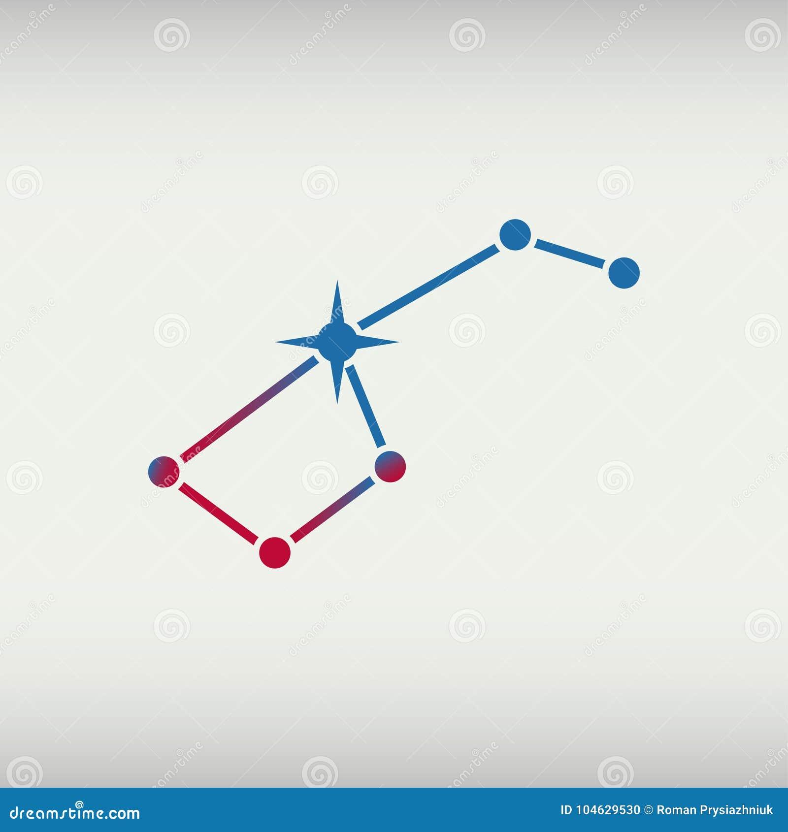 Gradient Abstract Logo Template: Ursa Major. Big Dipper Constellation. Vector Illustration