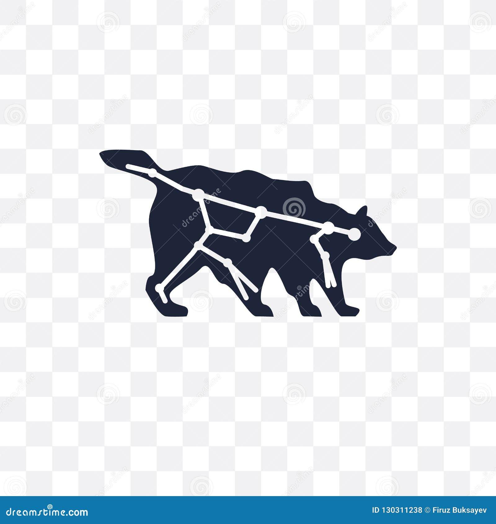 Ursa viktig genomskinlig symbol Ursa viktig symboldesign från Astro