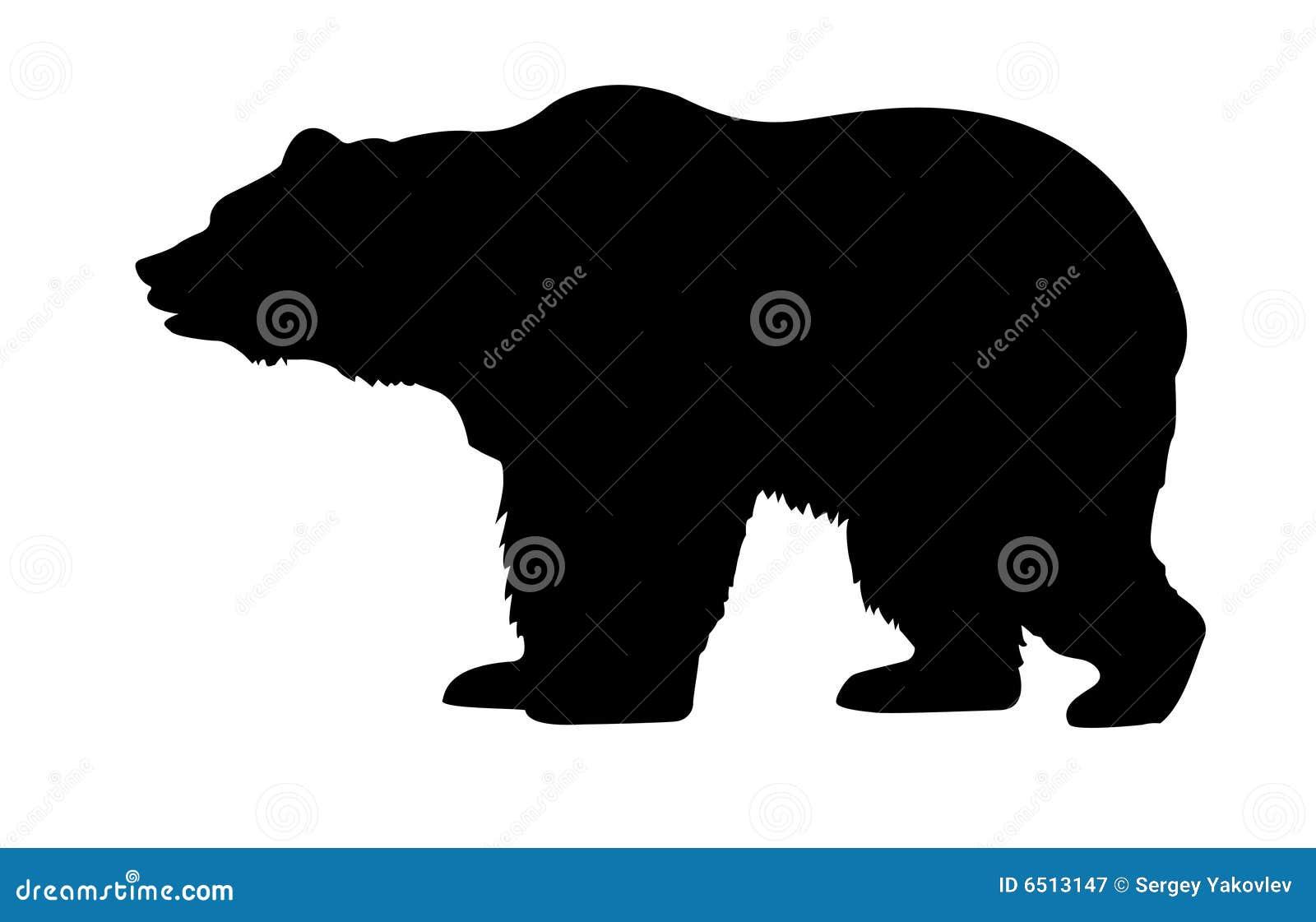 Urso da silhueta