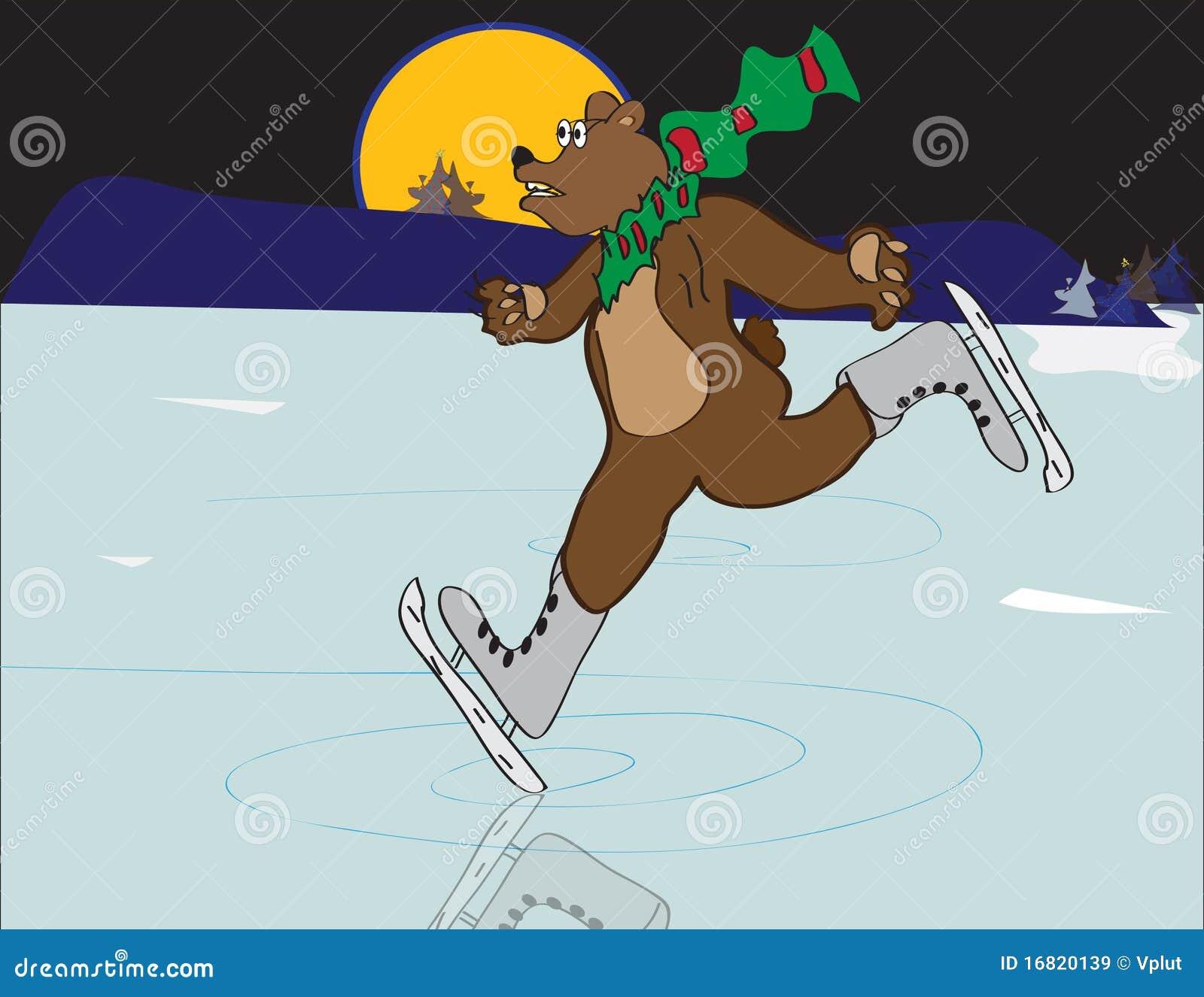 Urso de patinagem de Yule