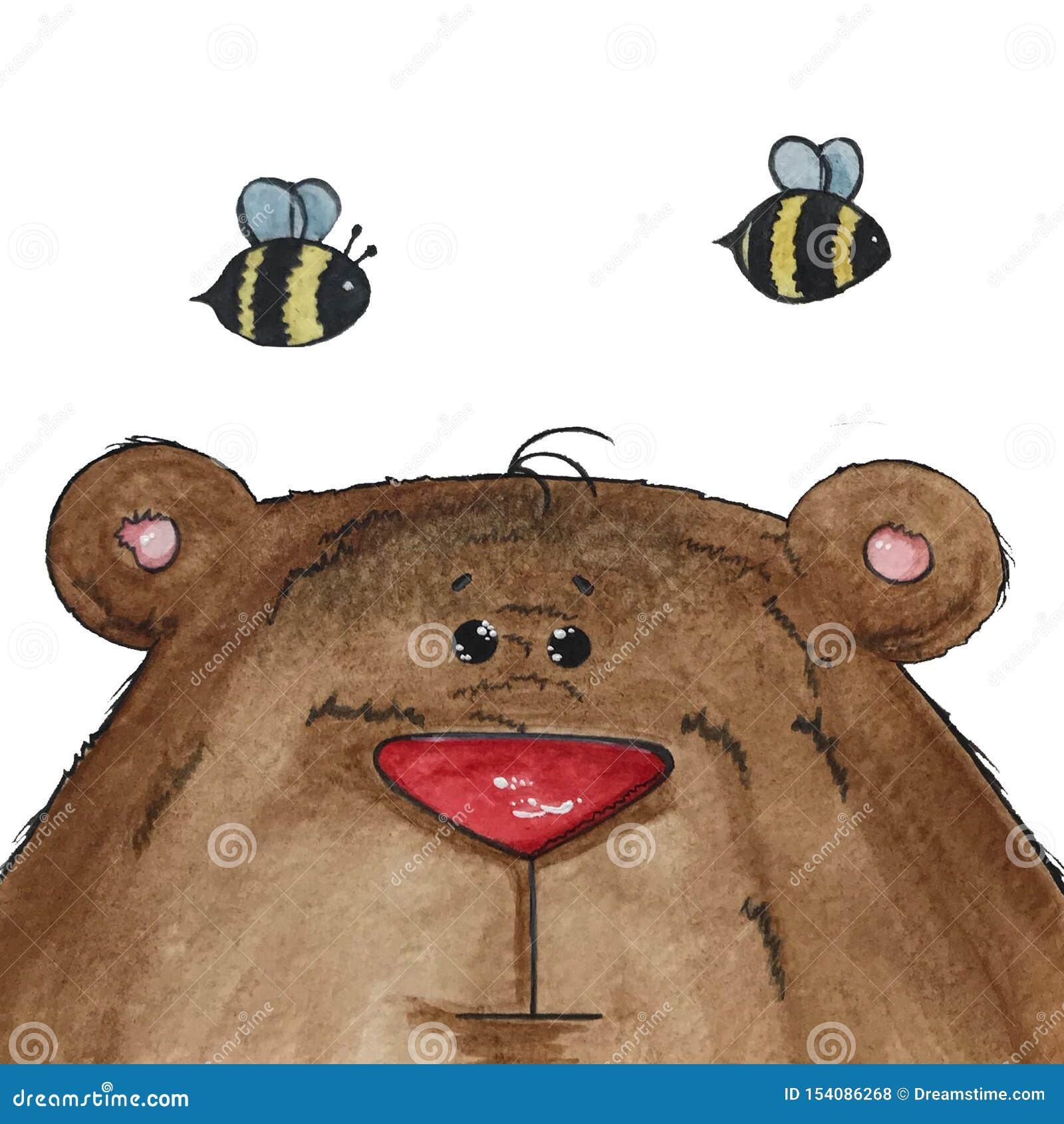 Urso e abelhas