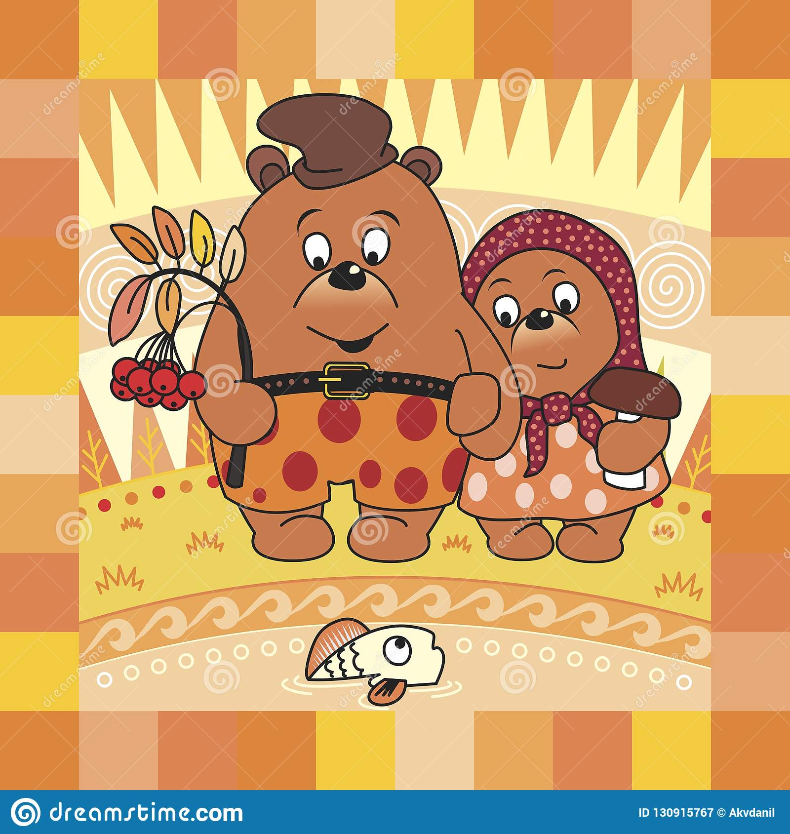 Urso e outono de peluche