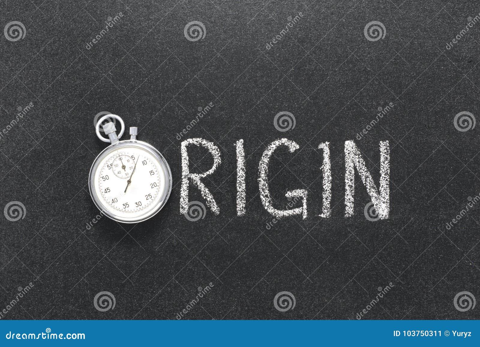 Ursprungswortuhr