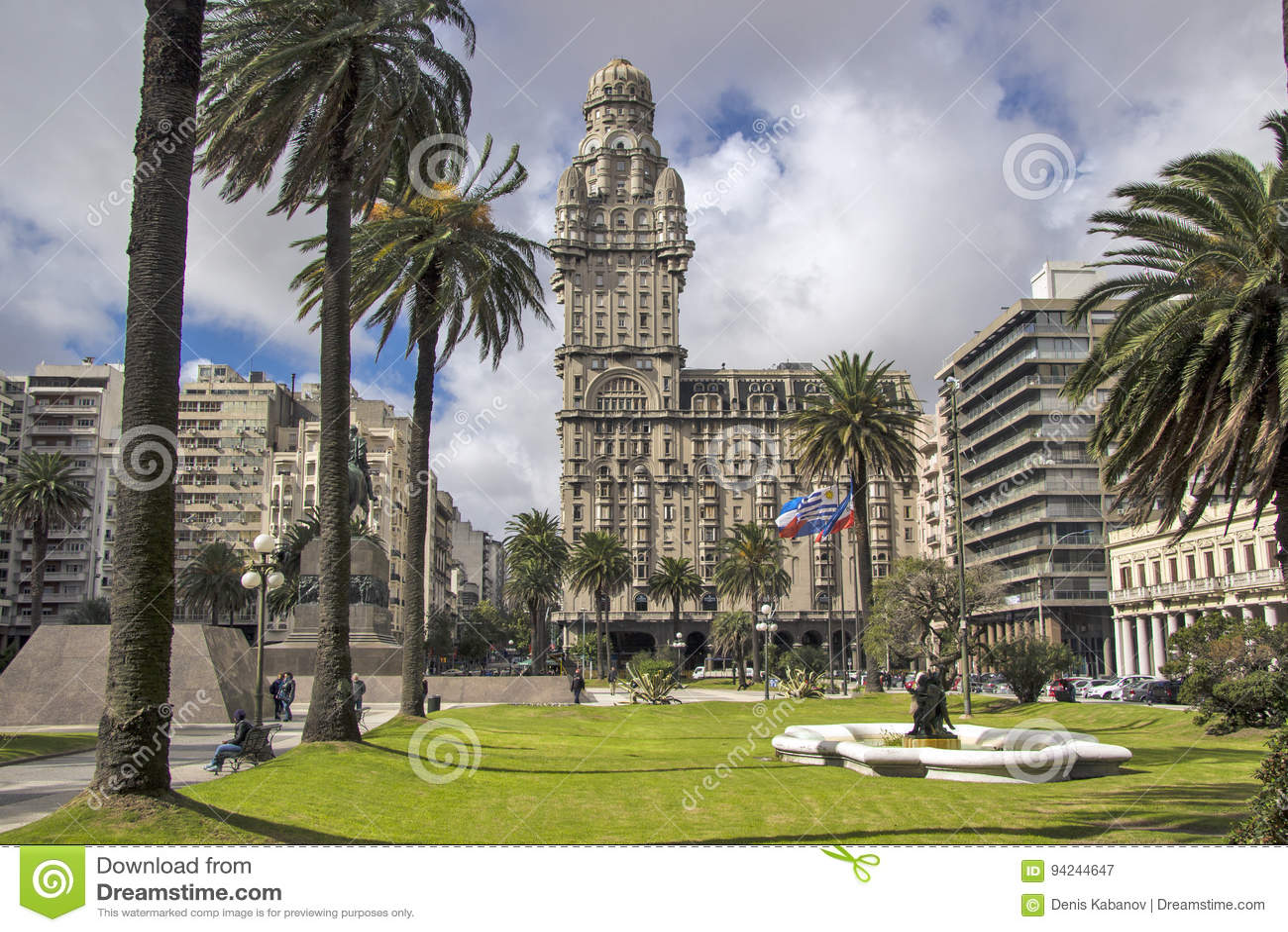 Uruguay - Montevideo - centralt lokaliserade Salvo Palace Palacio S