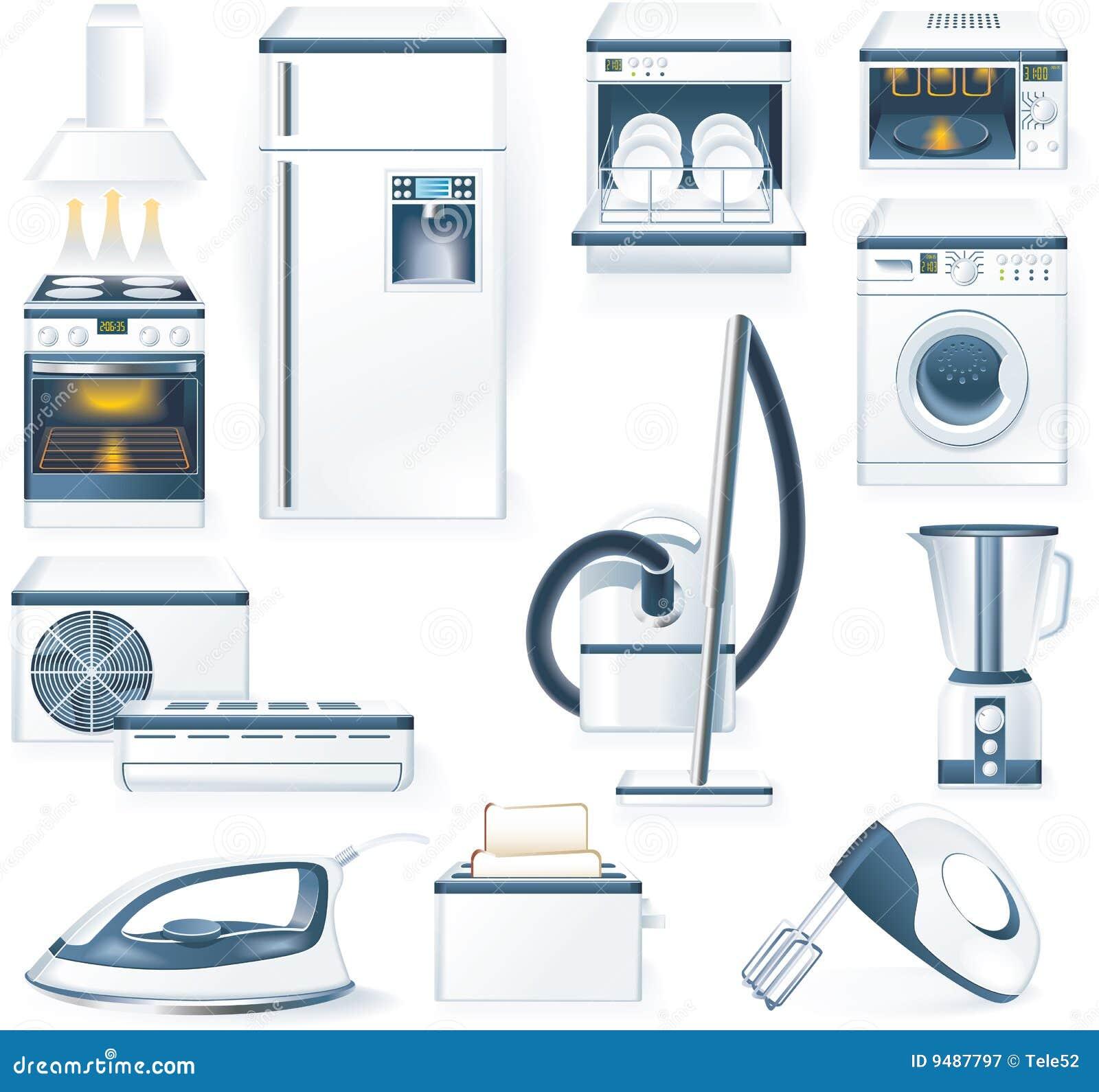 Urządzenia wyszczególniający gospodarstwa domowego ikon wektor