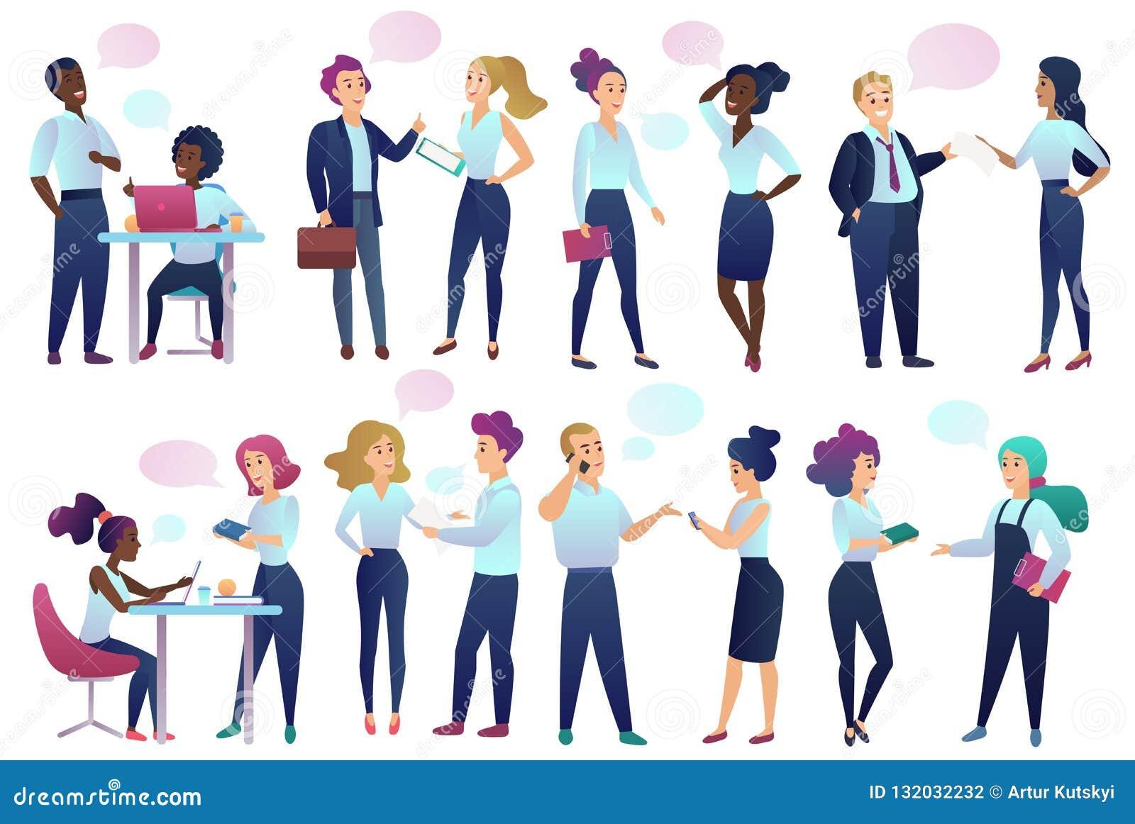 Urzędnicy opowiada do siebie zaludniają z gadka Komunikacyjnymi bąblami kom działania biznesu, kobiety dreamstime pola http href