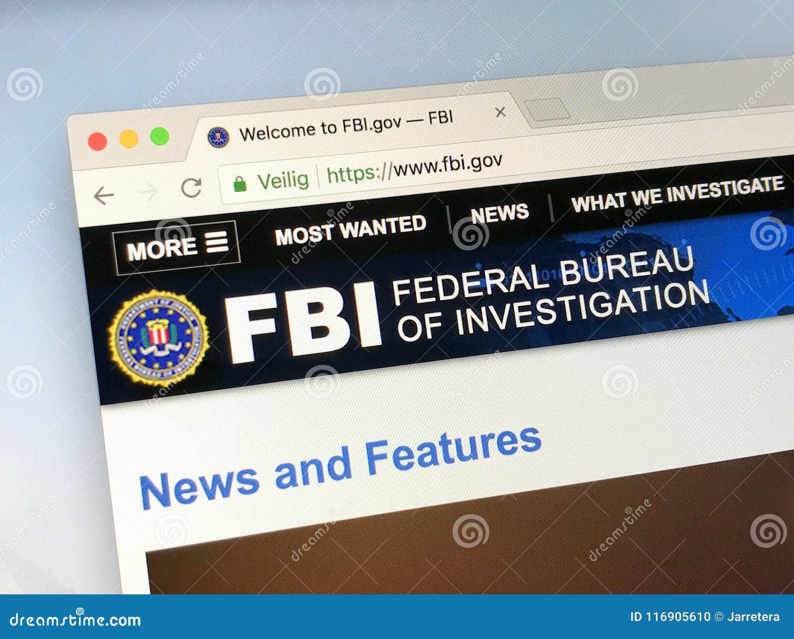 Urzędnika homepage federalne biuro śledcze - FBI