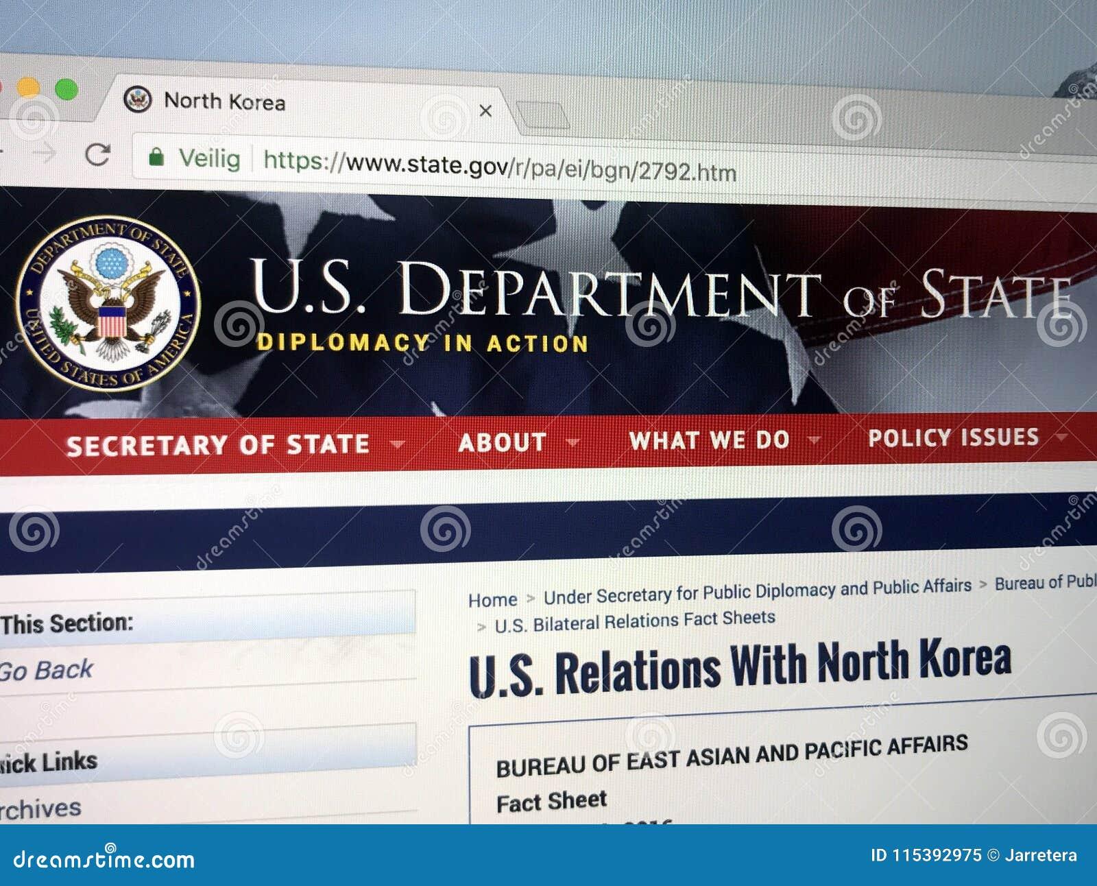 Urzędnika homepage Stany Zjednoczone departament stanu lub departament stanu