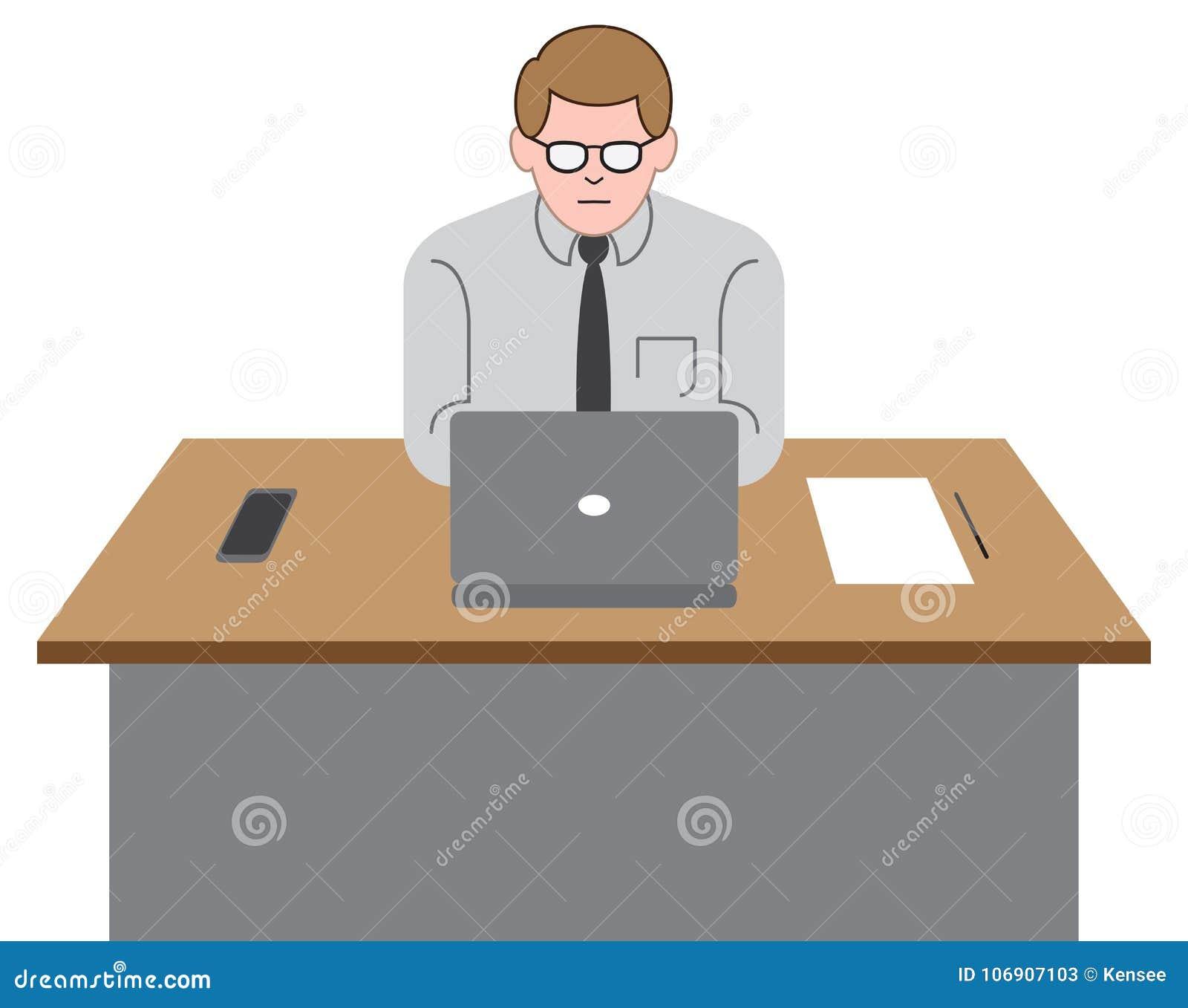 Urzędnik na laptopie