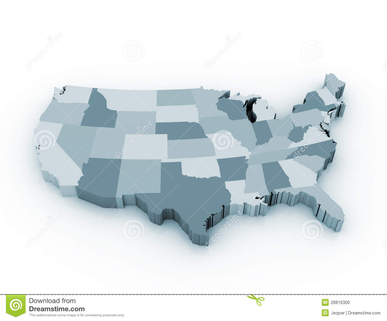 D Us Map Stock Images RoyaltyFree Images Vectors Shutterstock - 40x60 us maps