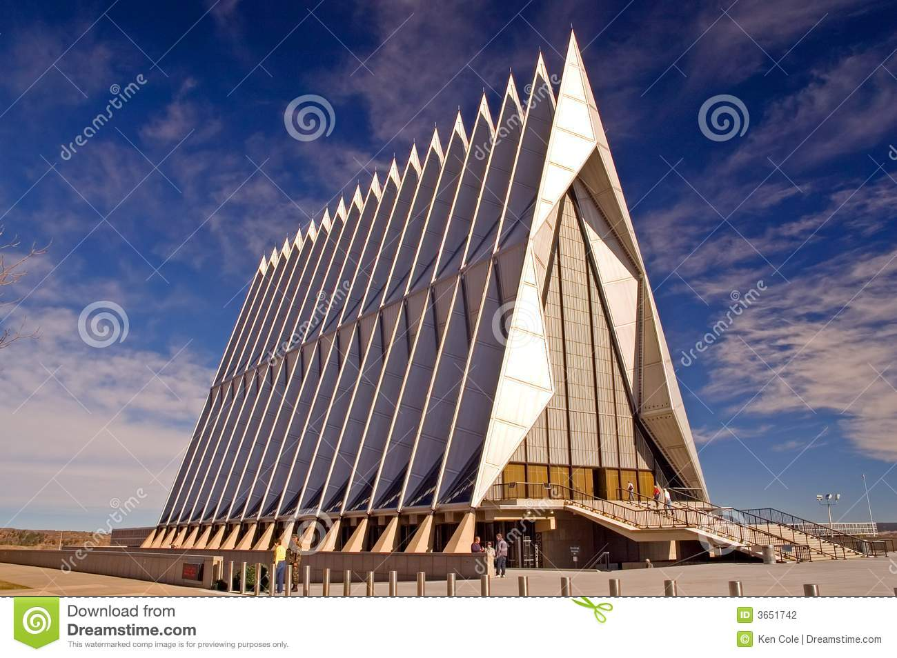US Air Force Academy Chapel Stock Photography - Image: 3651742
