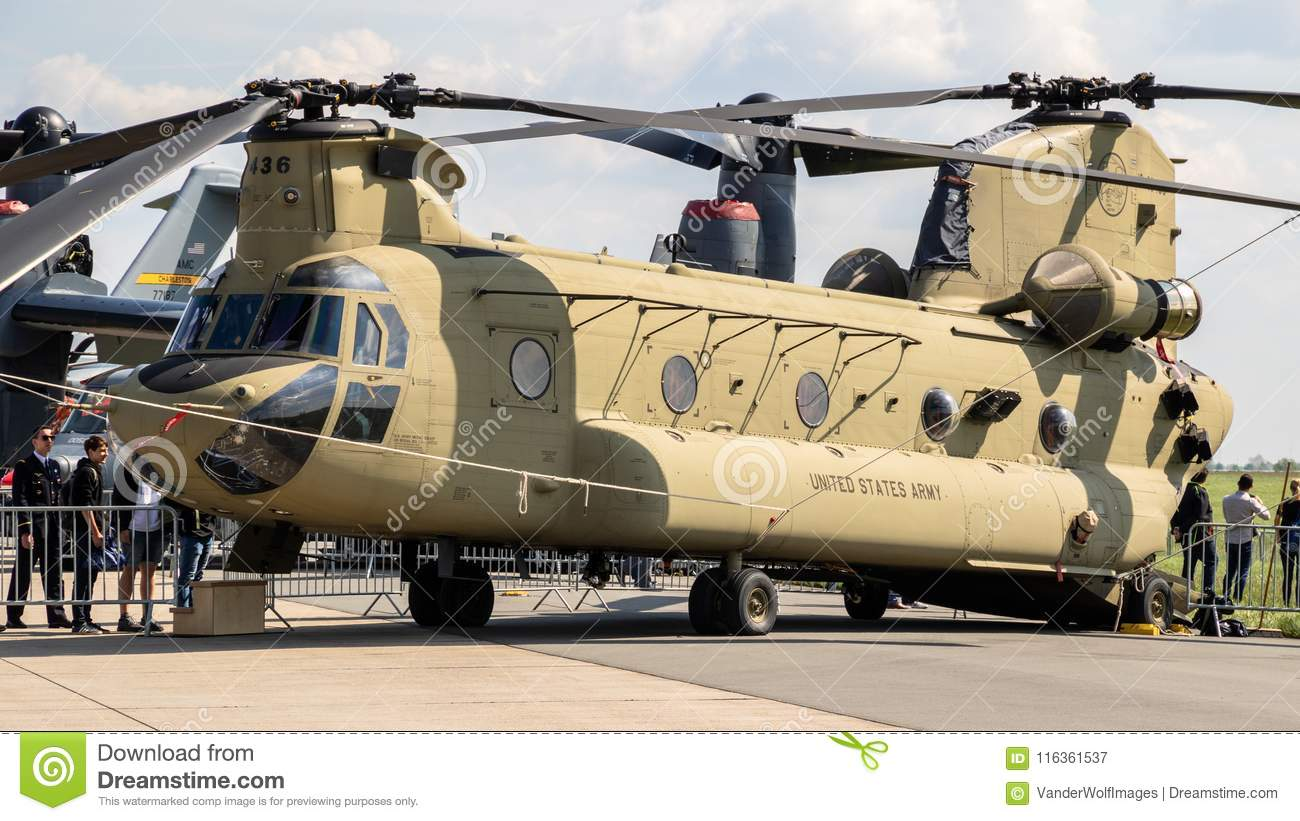 US Army Boeing CH-47F Chinook Helicopter Editorial