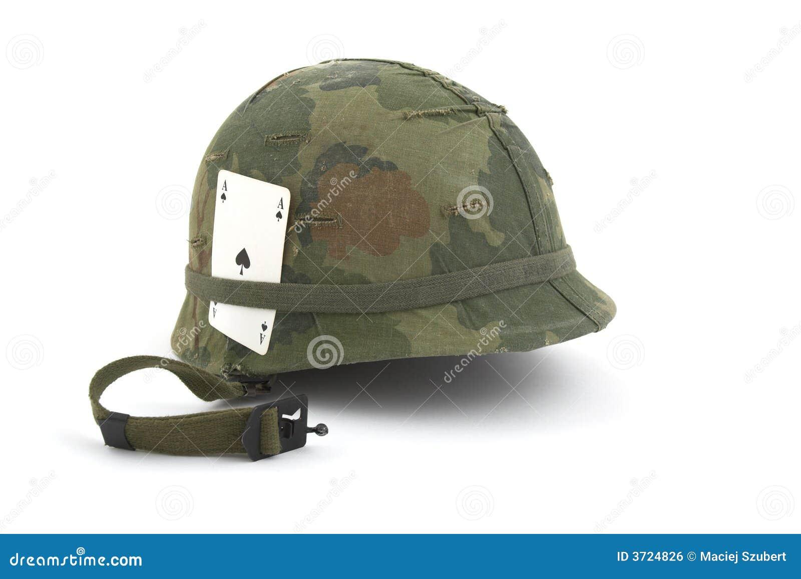 Us Army Helmet Vietnam Era Stock Photo Image Of Fight White 3724826
