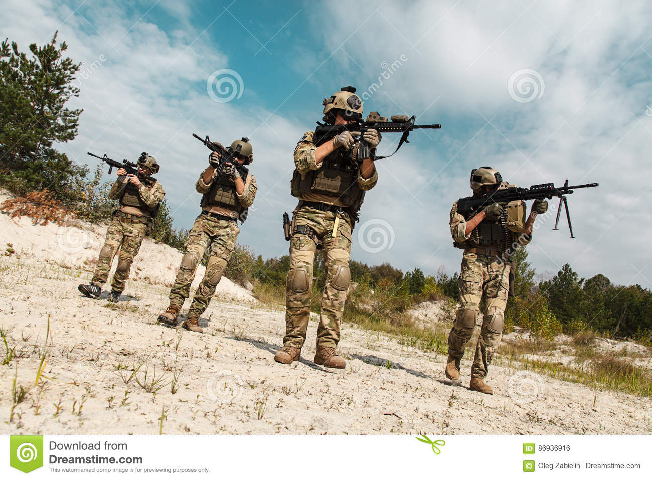 US Army Rangers In The Desert Stock Photo - Image of