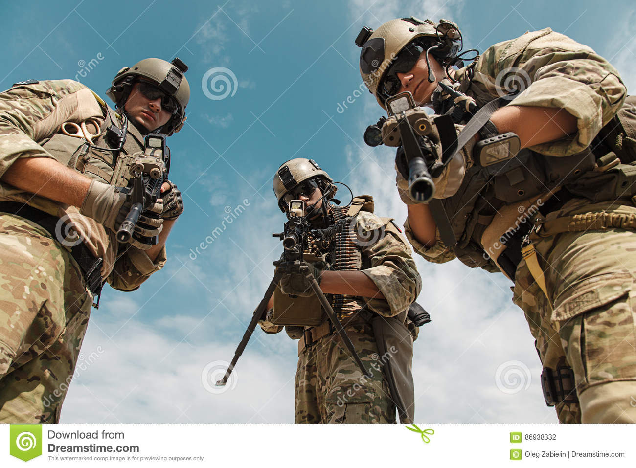 us army rangers with weapons stock photo image of mission rifle