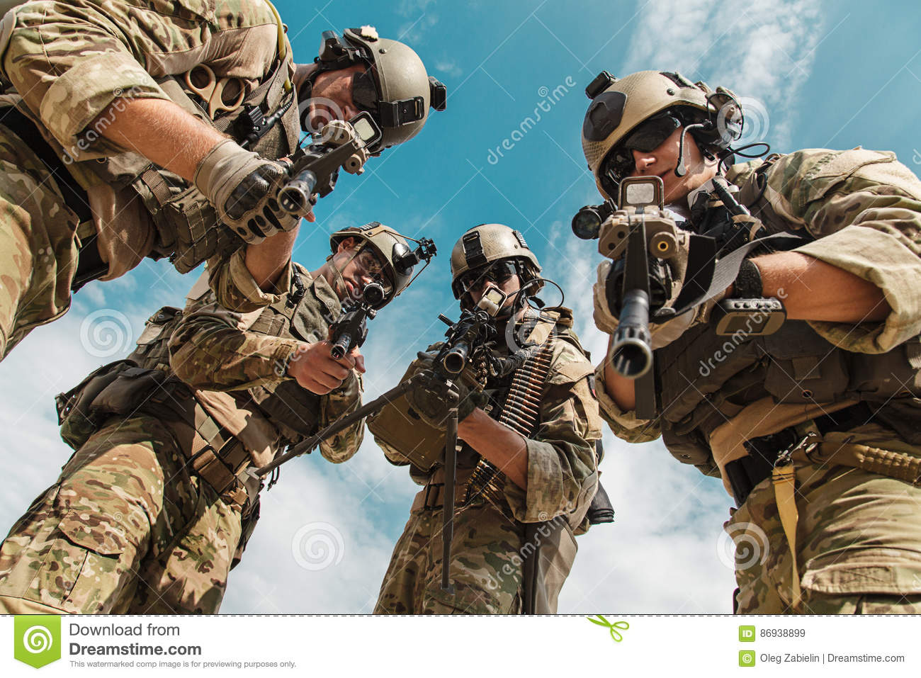 us army rangers with weapons stock image image of pursuit