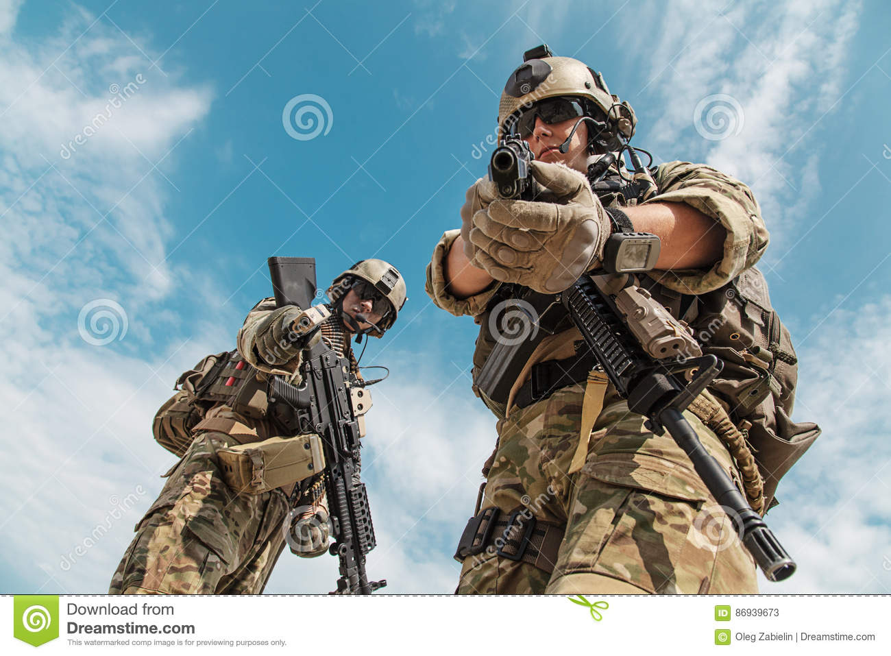 us army rangers with weapons stock image image of rifle elite