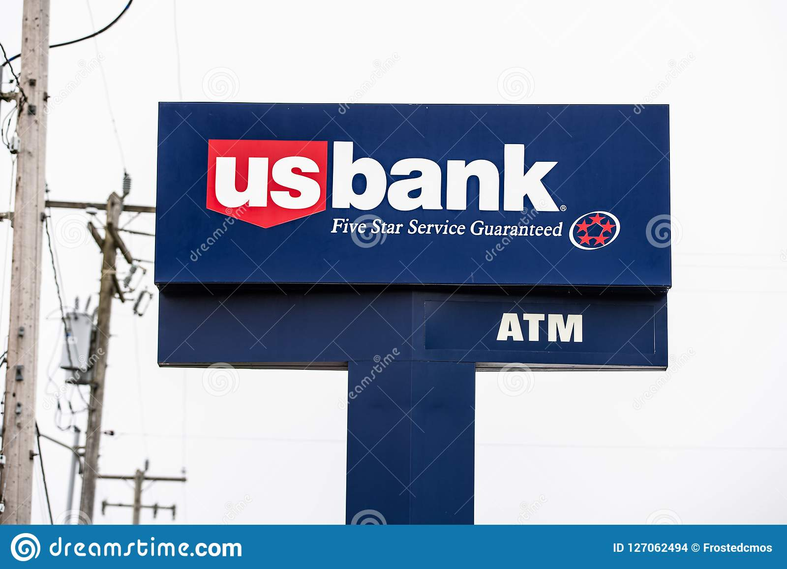 US Bank logo on the banner