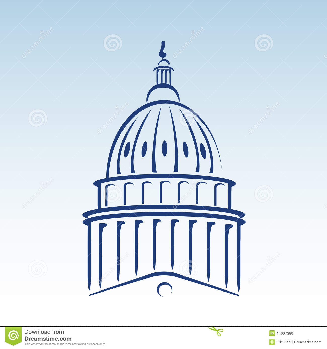 US Capitol Dome Vector Illustration Stock Photo - Image: 14607380
