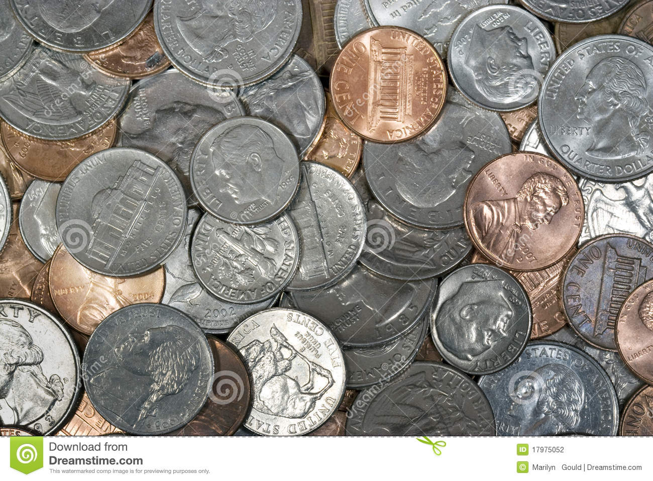 Us Coins Stock Photography Image 17975052
